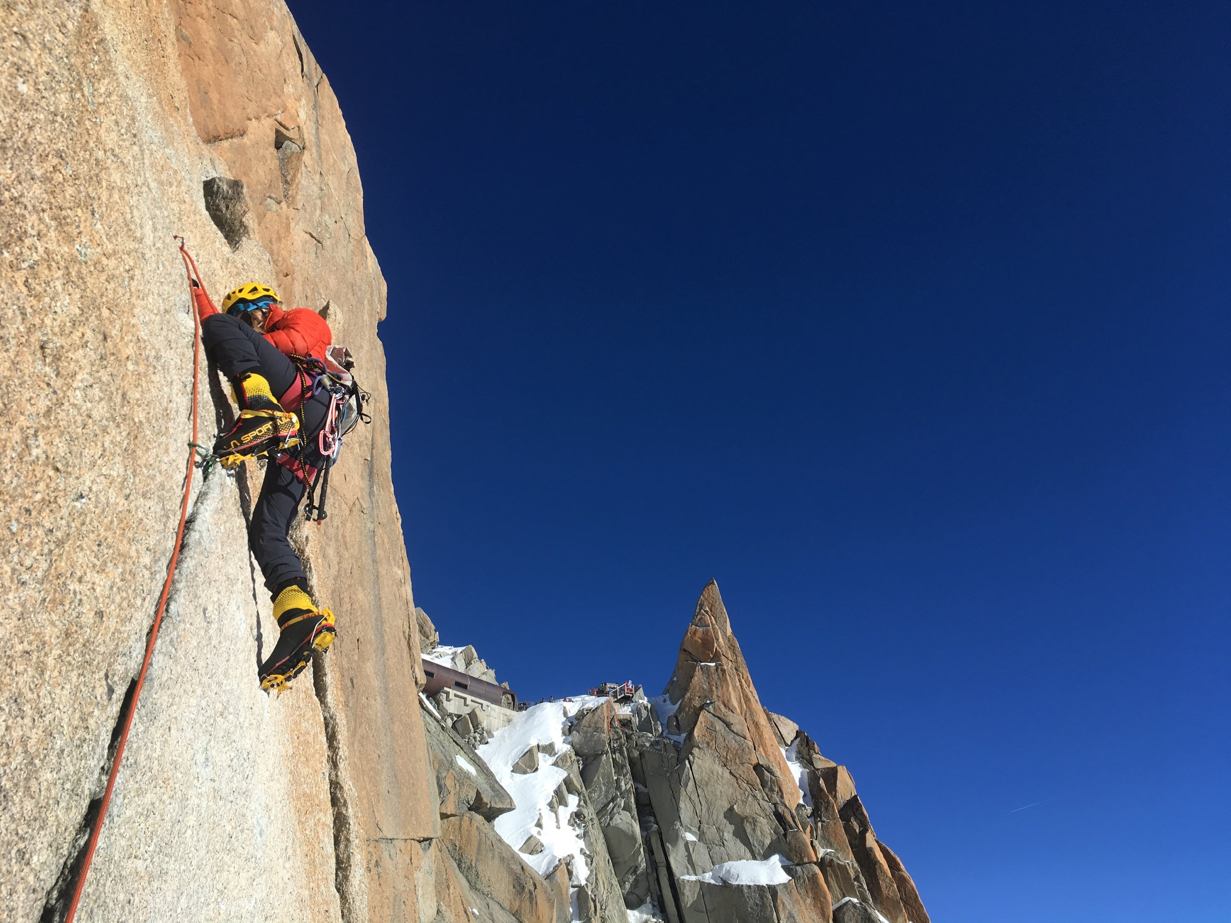 Goofing off on the cosmic arete!