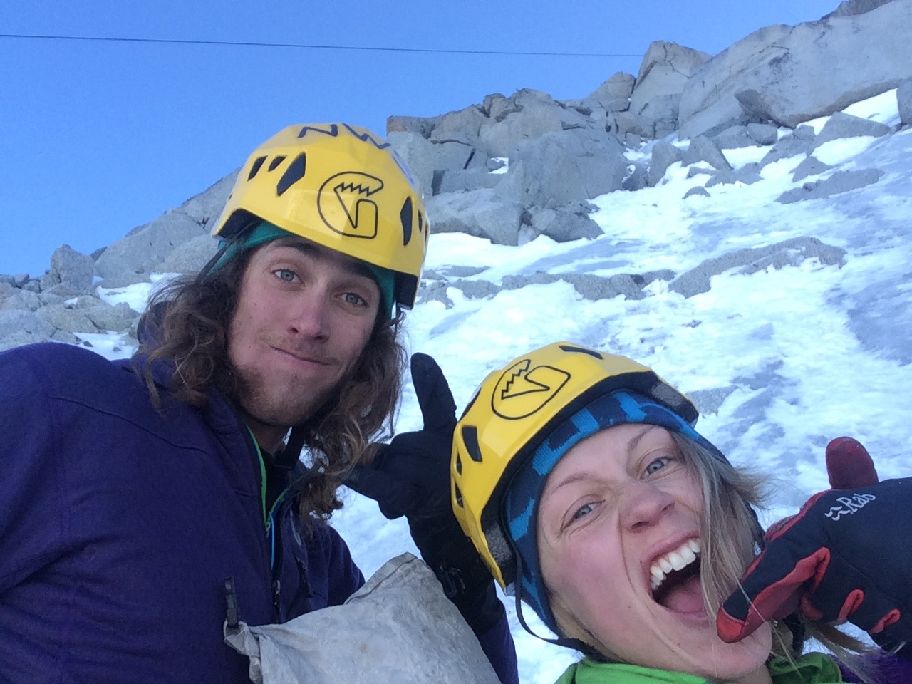 Jackson Marvell and I eating cookies / macaroons on the Frendo Spur. Mixy Mixy.
