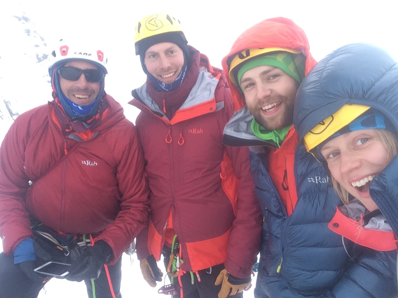 After the bike tour I met up with the ALL STAR RAB folks to do some winter climbing! Fabrizio Zangrilli, Jon Fredrick, Greg Boswell and I.