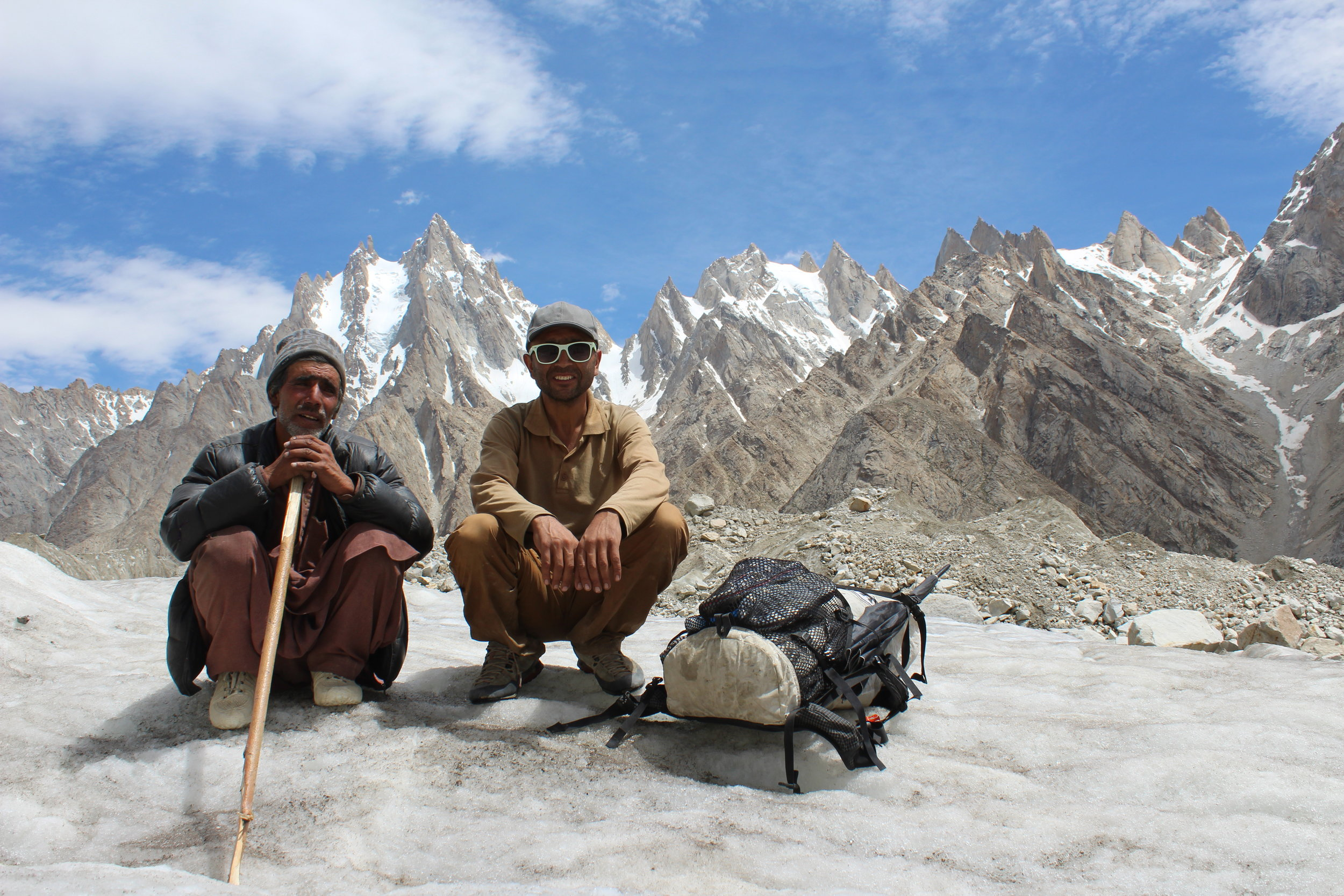 Hussain and Ghafoor waiting on us like usual. But we had made it to ridible glacier!