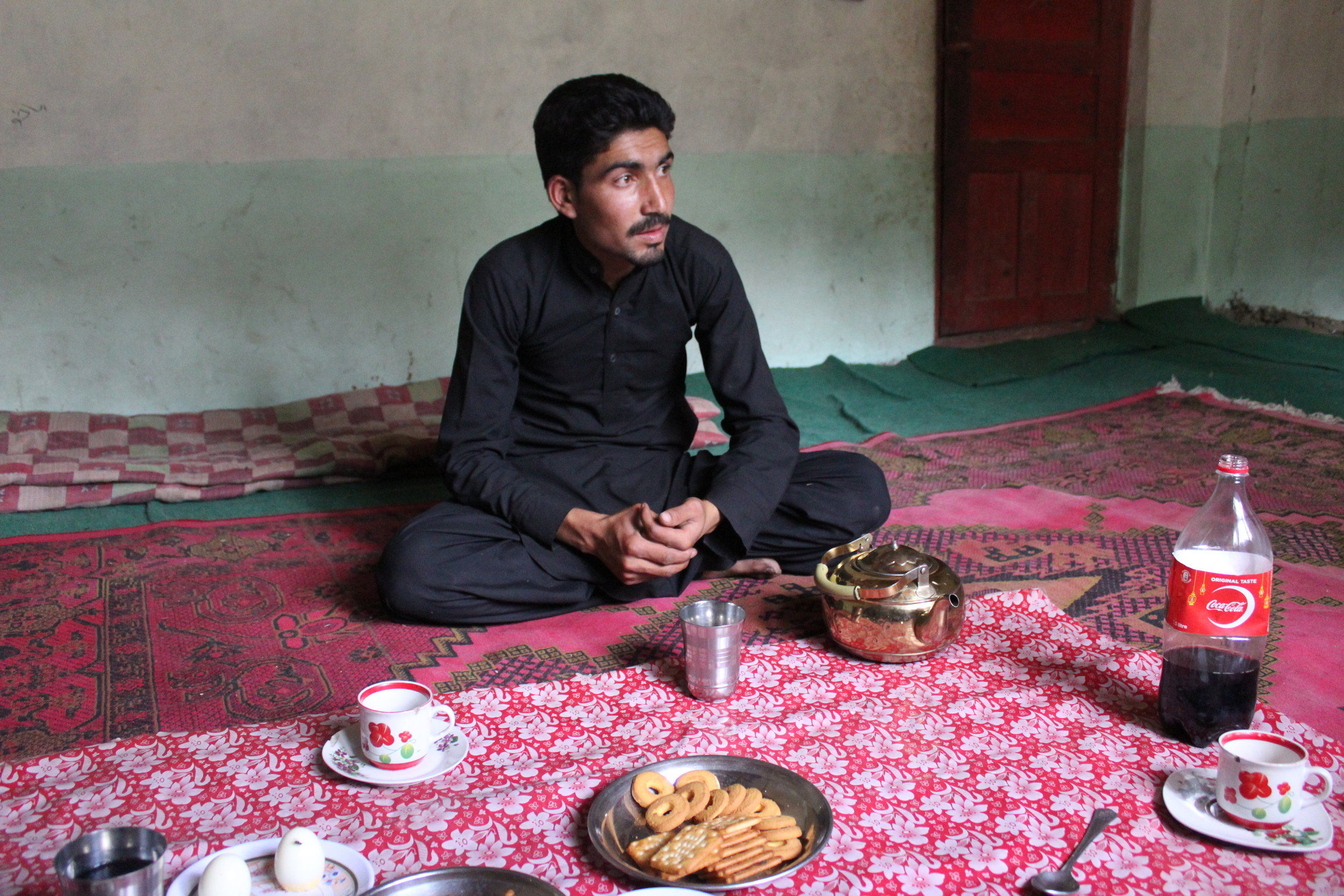 Quassim's son who was studying in Skardu home for a visit.