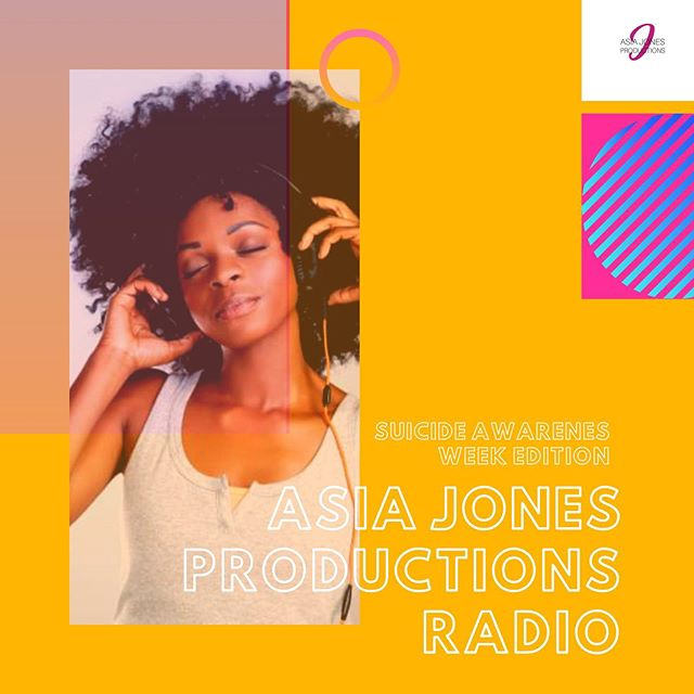 Asia Jones Productions Radio has officially been updated, with music dedicated towards National Suicide Prevention Week! Feel free to jam out, self-reflect, and regain your power for the remainder of the week 🎶  Available exclusively through Spotify 💚
