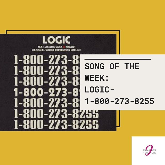 This week, Asia Jones Productions Radio has selected not one, but two songs for Song of the Week. The chosen songs are Logic - 18002738255 and Marsha Ambrosius - Far Away  1-800-273- 8255 is a song dedicated towards spreading awareness of suicidality within society, while also creatively utilizing the actual phone number of the National Suicide Prevention Hotline as a means to encourage listeners to call if they need help! Far Away is a song dedicated to those who have unfortunately lost their loved ones to suicide.  Feel free to listen to both songs available on the Asia Jones Productions Radio playlist exclusively on Spotify! 💛💛💛
