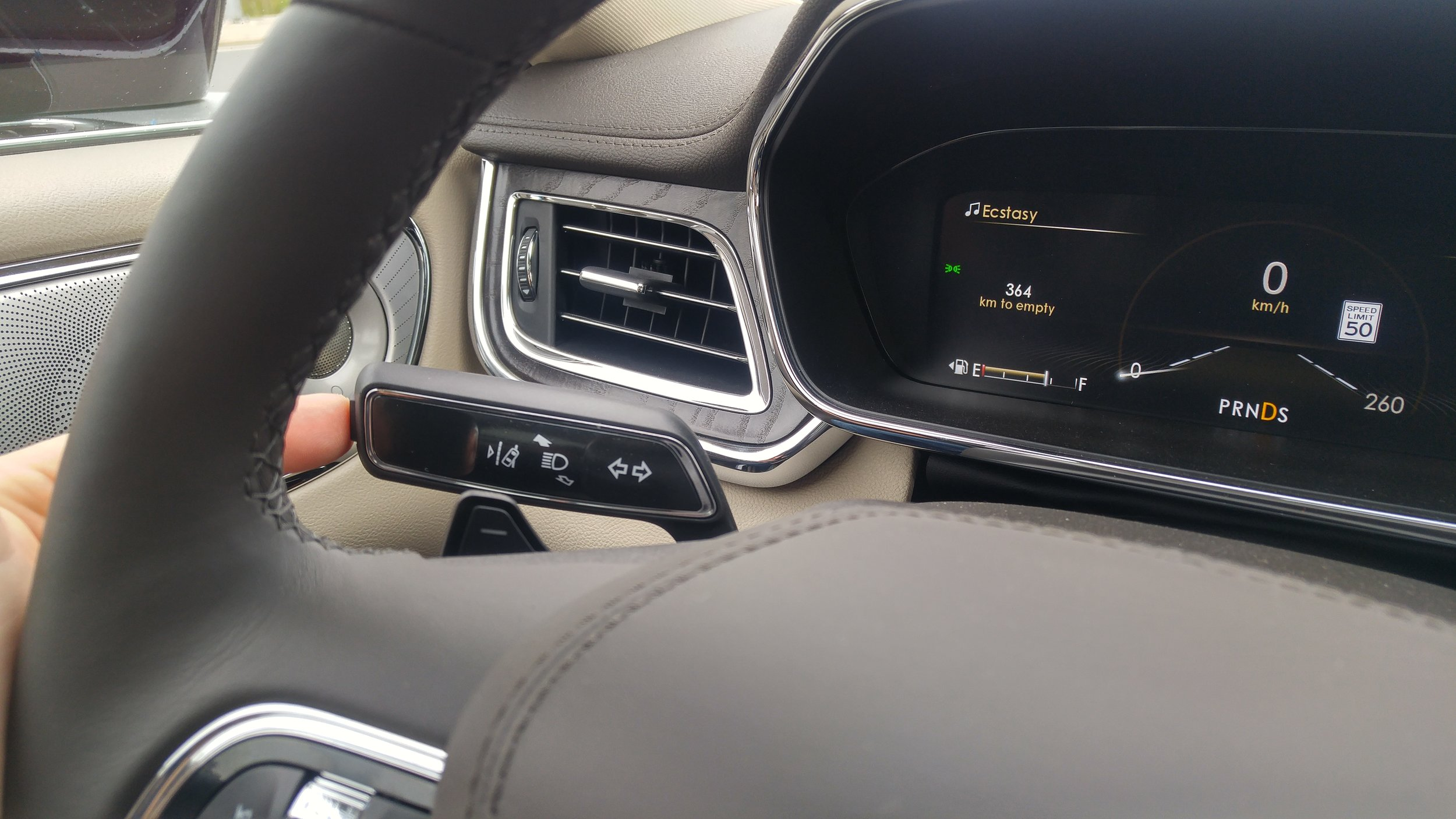 The Lane Departure Warning can be switched off easily if it becomes annoying on a narrow road. The full LCD instrument display can be adjusted to display a variety of info, depending on your preferences.