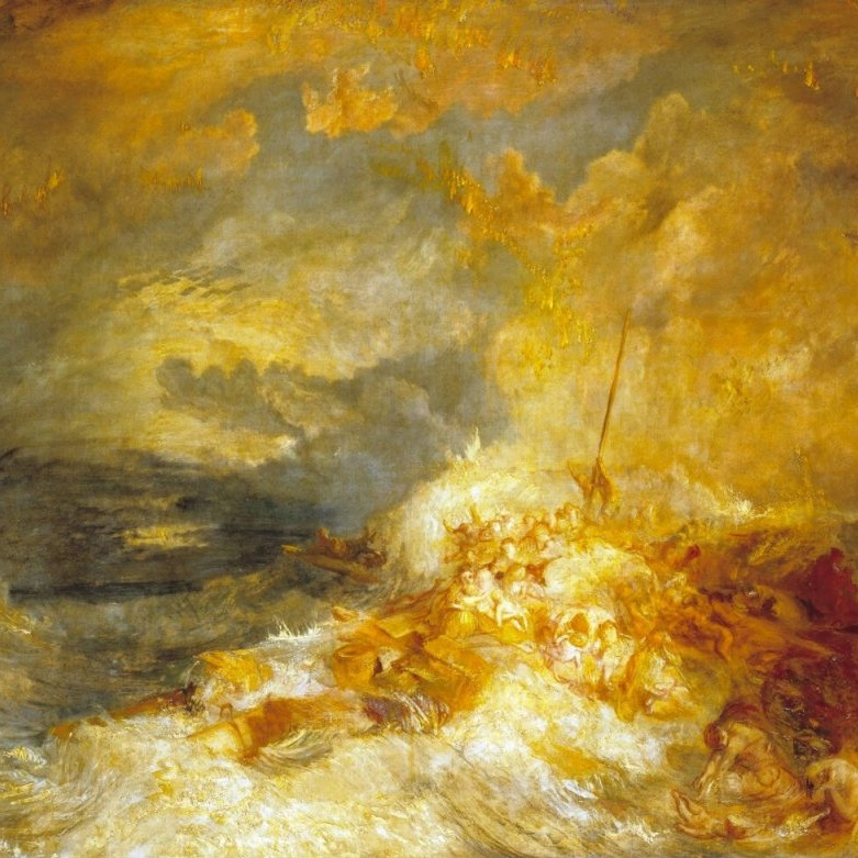 William Turner |  Fire at Sea, 1835