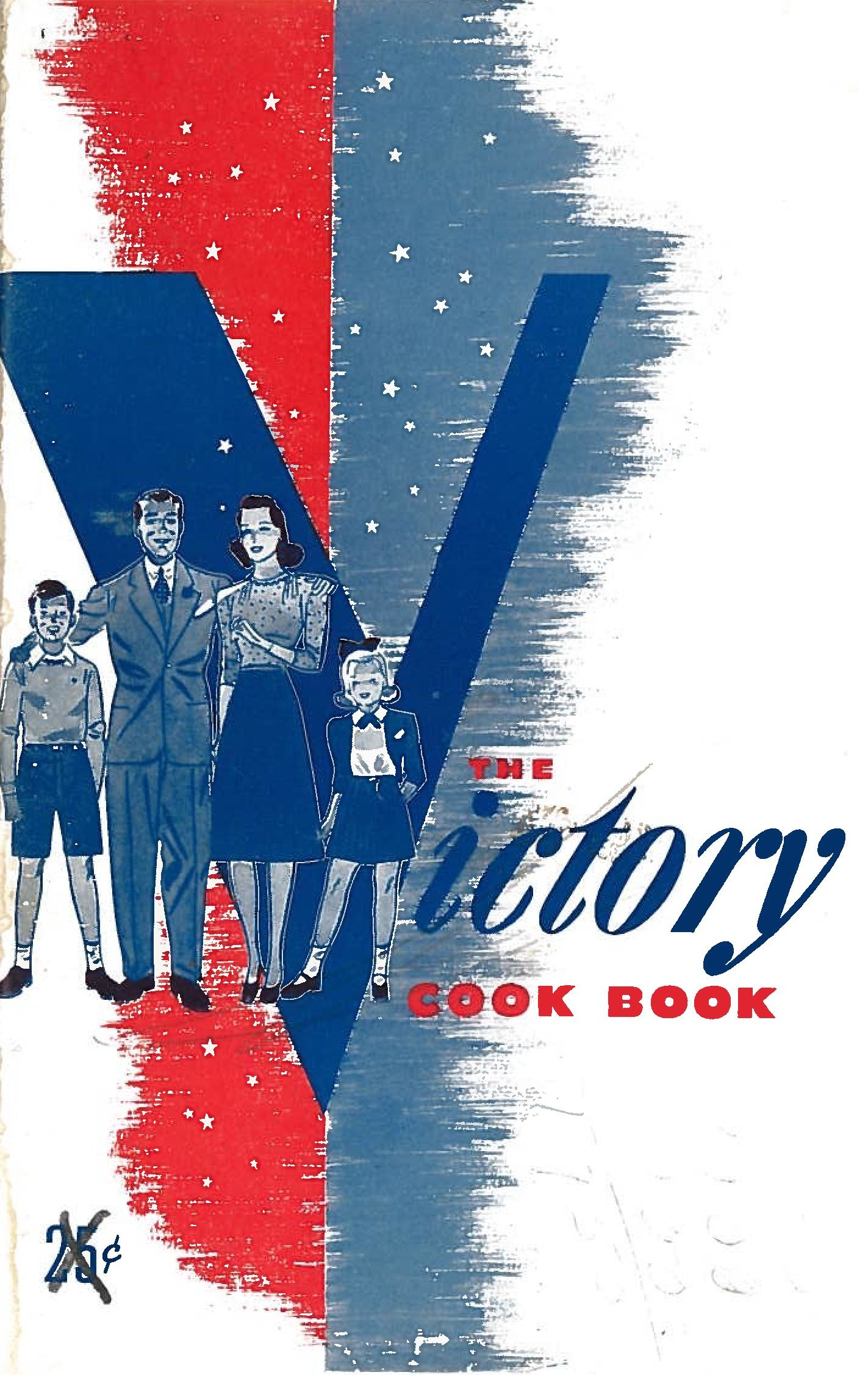 The cover of  The Victory Cookbook clearly shows what is trying to be preserved. We're talking about family. The ideal American family, two kids, professional husband, a woman who does not have to work, middle class, and white.