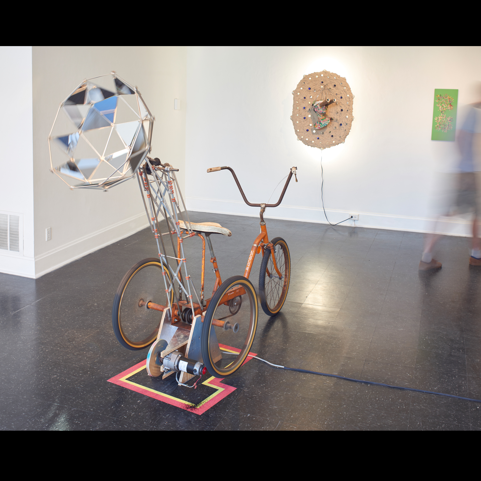 To define the 4th dimension of the glass world one must find the variables vibrating from the farthest cultural norms and well-traveled orbits of the masses; They must be so far off the atomic grid that they redefine it. The artists in this exhibition engage space, time, and pseudo-science with the sardonic wit of a home chemistry enthusiast.                                 Curators R. Rader & B. Wright
