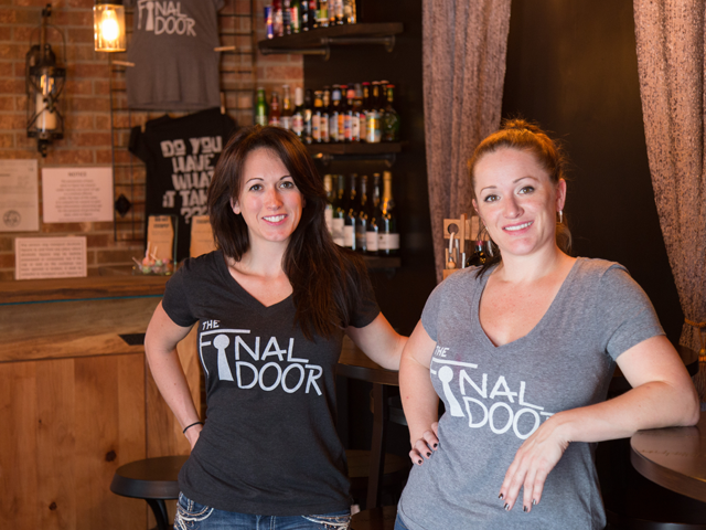 "A toast to victory—or defeat  Catering to college students, couples and young professionals, The Final Door in Cayce is the only S.C. escape room serving beer and wine in the lobby. Owners Alexis Fenske (left) and Tracy Crawford say the small lounge—complete with tabletop puzzles—provides teams a place to continue the fun of a game. ""People come out, and we've seen them exchange numbers and hang out in the lobby for an hour afterwards, taking pictures together, writing notes on the wall,"" Fenske says. ""It's a very bonding experience.""   Photo by Andrew Haworth"