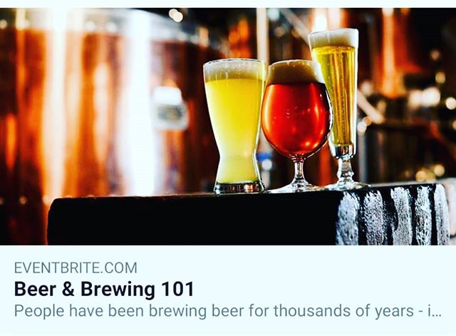 Still a few spots left for our Beer & Brewing 101 class this Saturday! Link in bio.  #homebrew #drinklearncraft #beer101