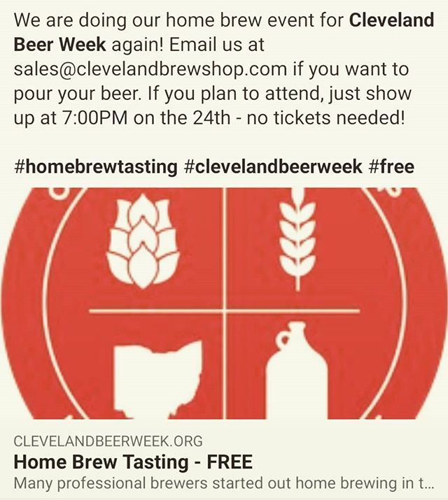 Back for the third year in a row! #clevelandbeerweek #homebrew #beforetheywerefamous #free
