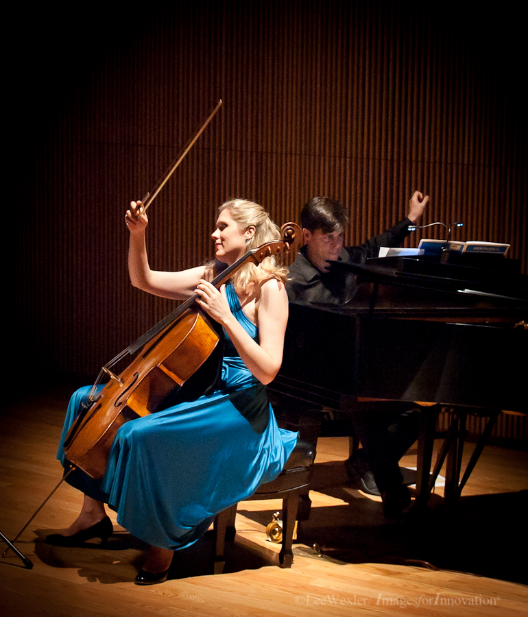 w/ pianist Stephen Gosling.  Project Creo Benefit Concert 2011, Dimenna Center, NYC.  Photography by Lee Wexler