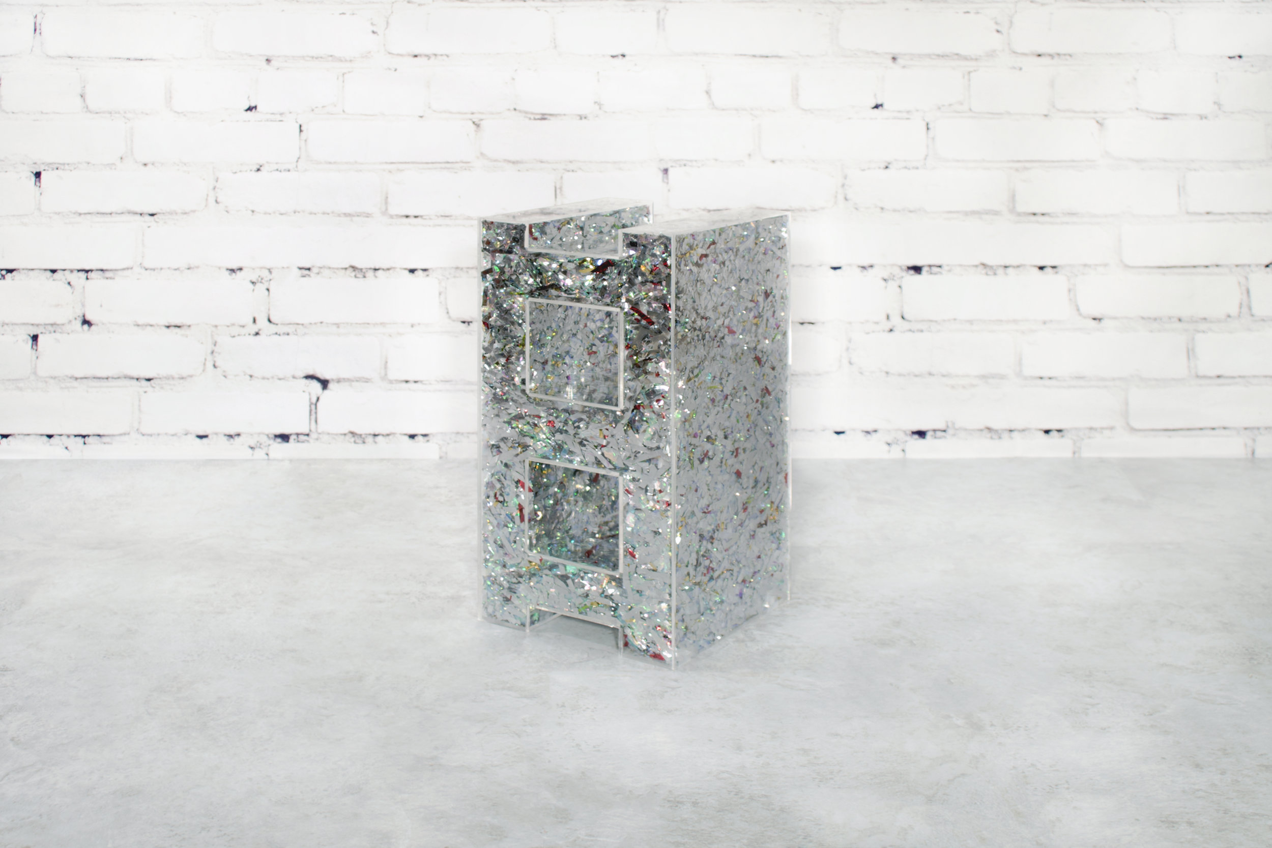 a foiled block