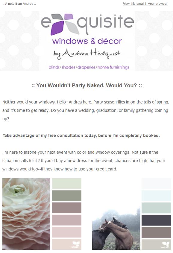 Example email template, 1 of 8 |Images via Design-Seeds.com.