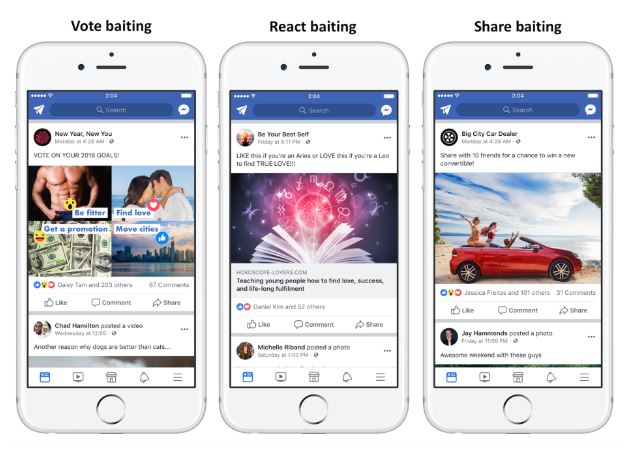 Source: Facebook Newsroom | Examples of Engagement Baiting
