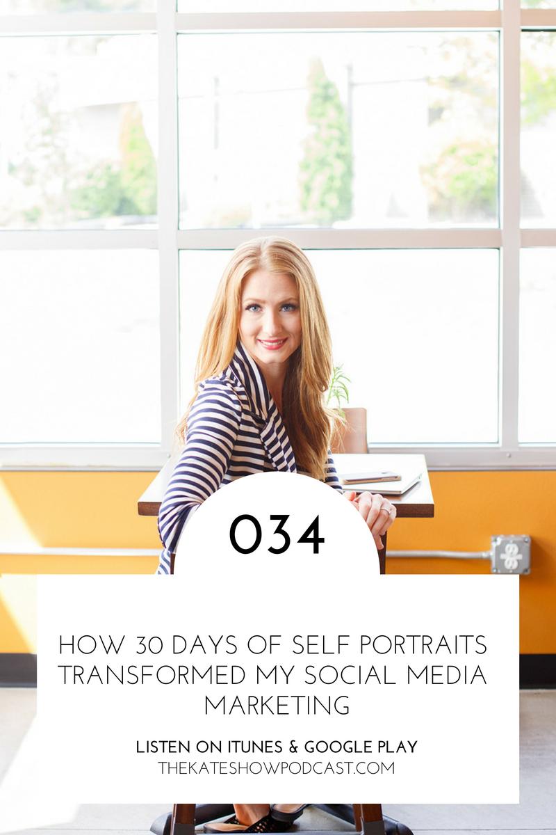 How 30 Days of Self Portraits Transformed My Social Media Marketing