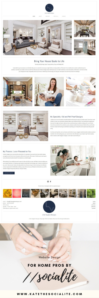 Website Design for Interior Designers