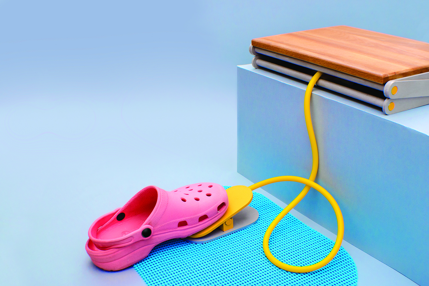Foot pedal operated (Crocs not included)