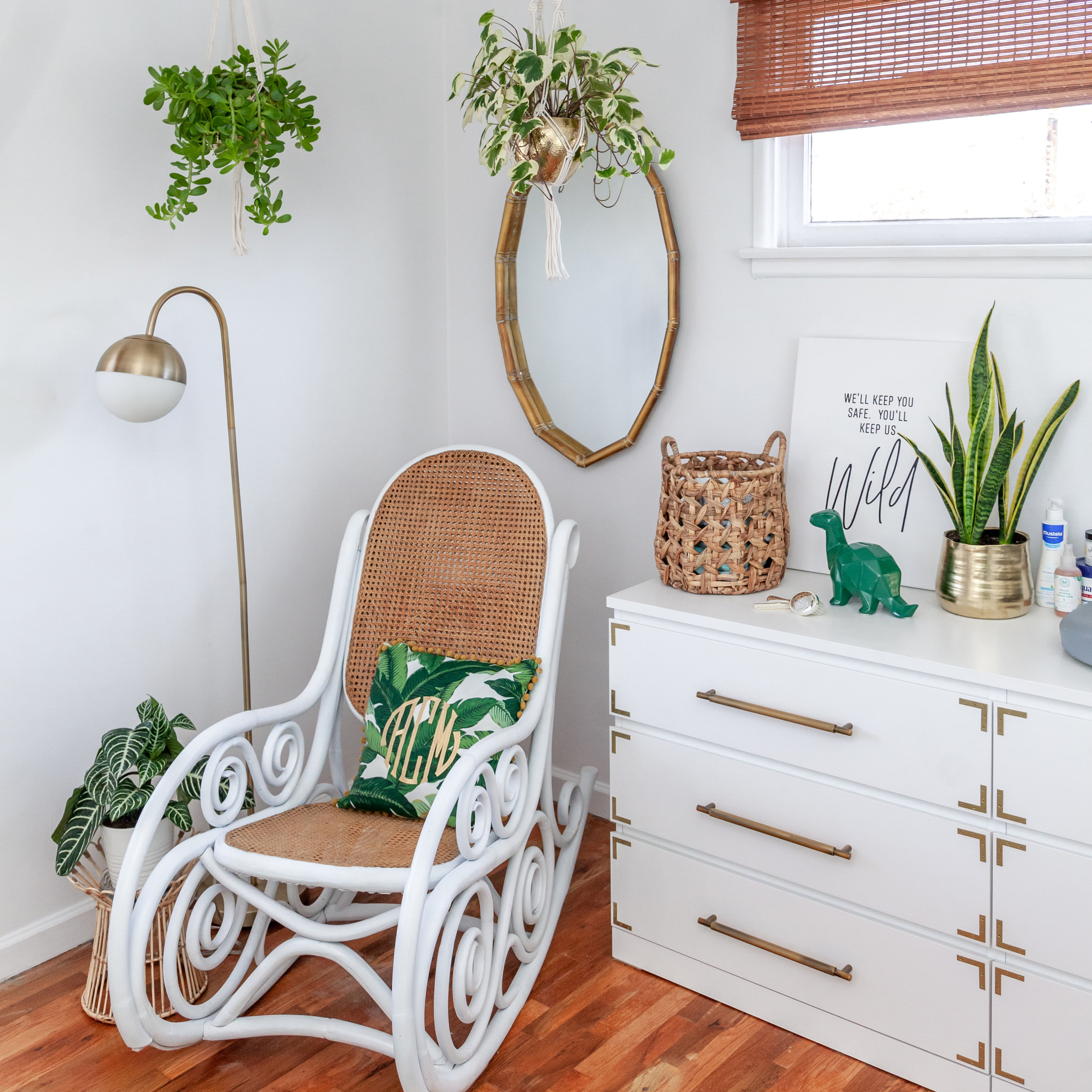 Influencer's Gender-Neutral Tropical Nursery - #BabyCoeJungalow
