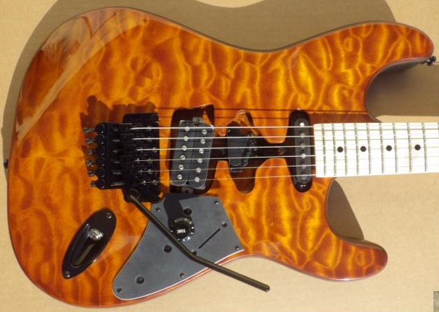 Mean Street Guitars Amber Quilt Franky Tour Model pic2.jpg