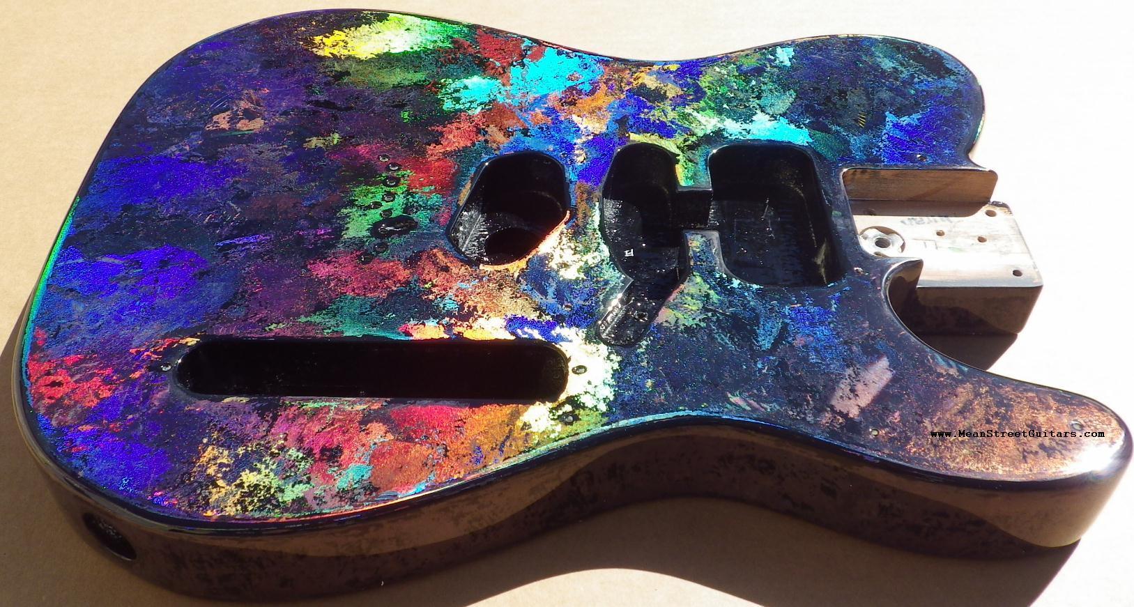 Mean Street Black Fusion Holoflash Telecaster Andrea C pic 2.JPG