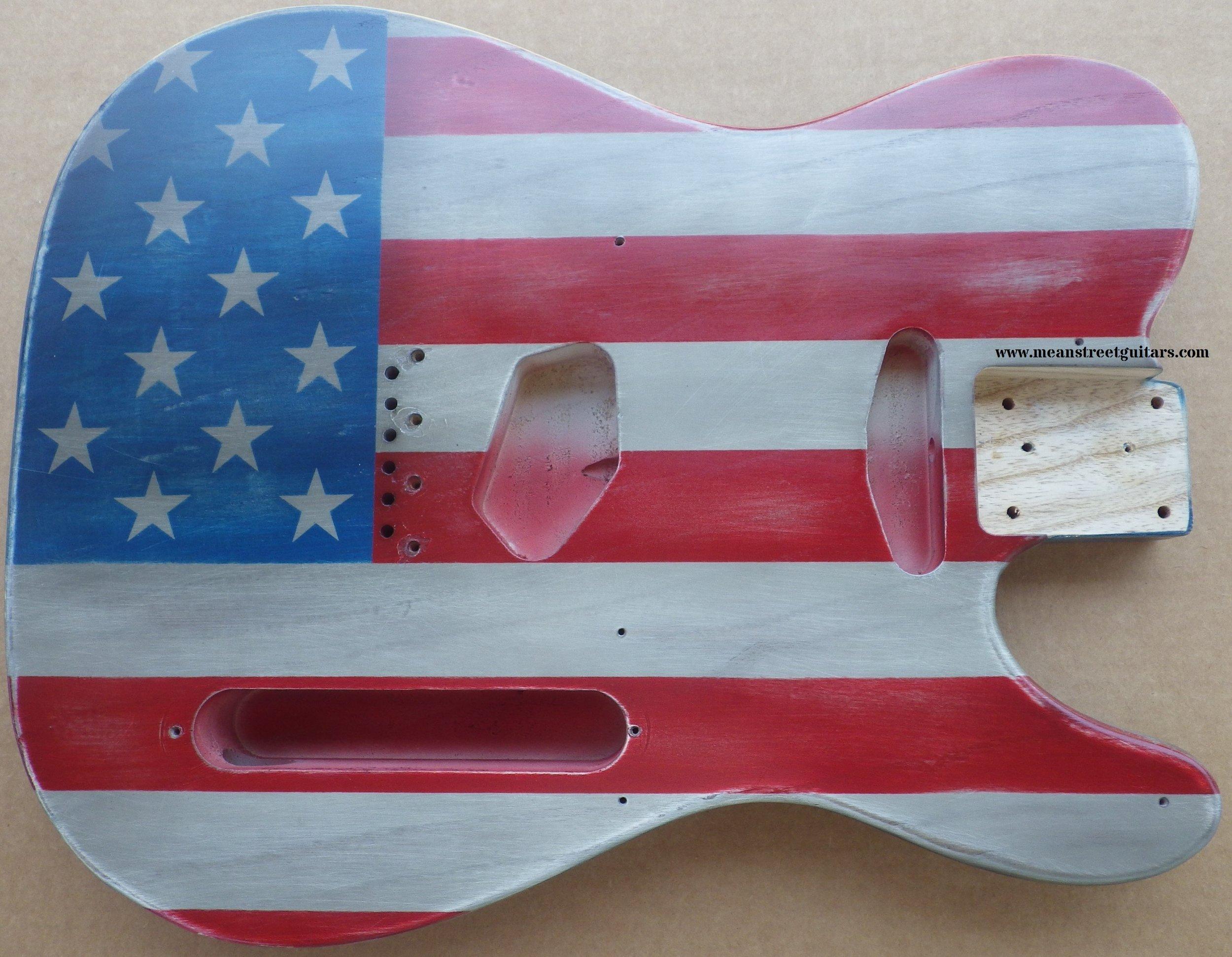 Mean Street American Flag Tele relic paint job Shawne P pic 1.jpg