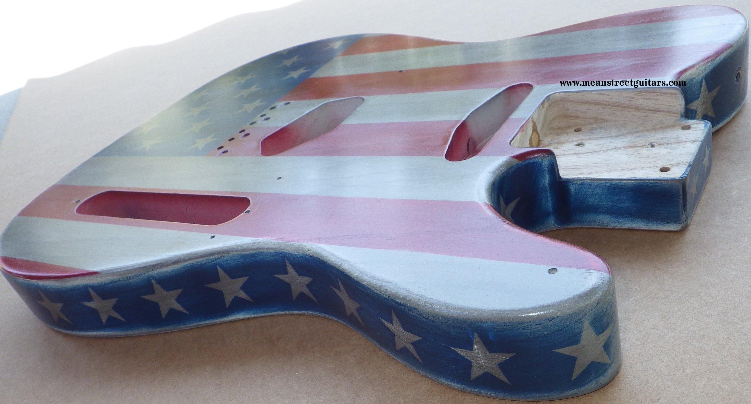 Mean Street American Flag Tele relic paint job Shawne P pic 3.jpg