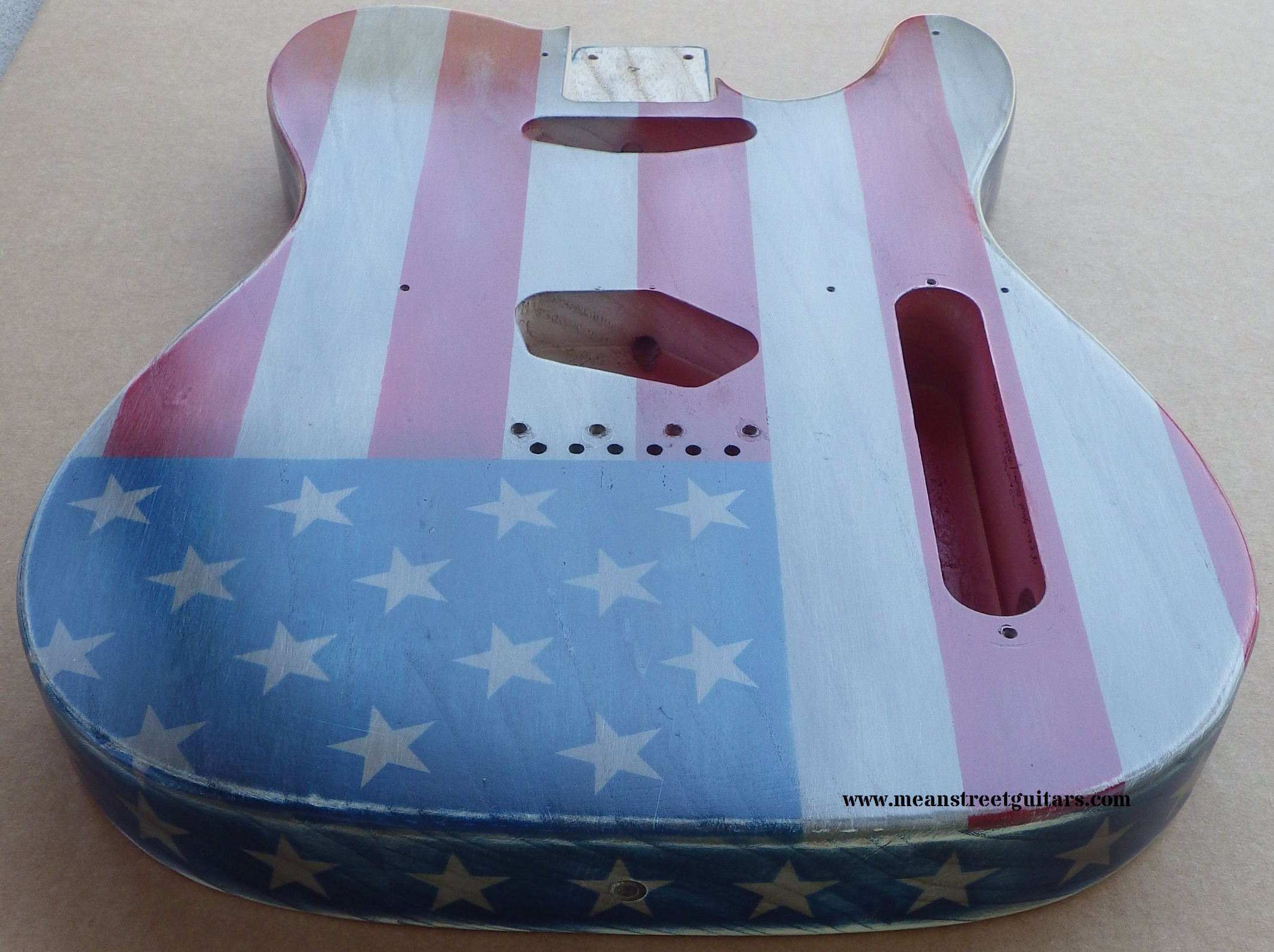Mean Street American Flag Tele relic paint job Shawne P pic 5.jpg