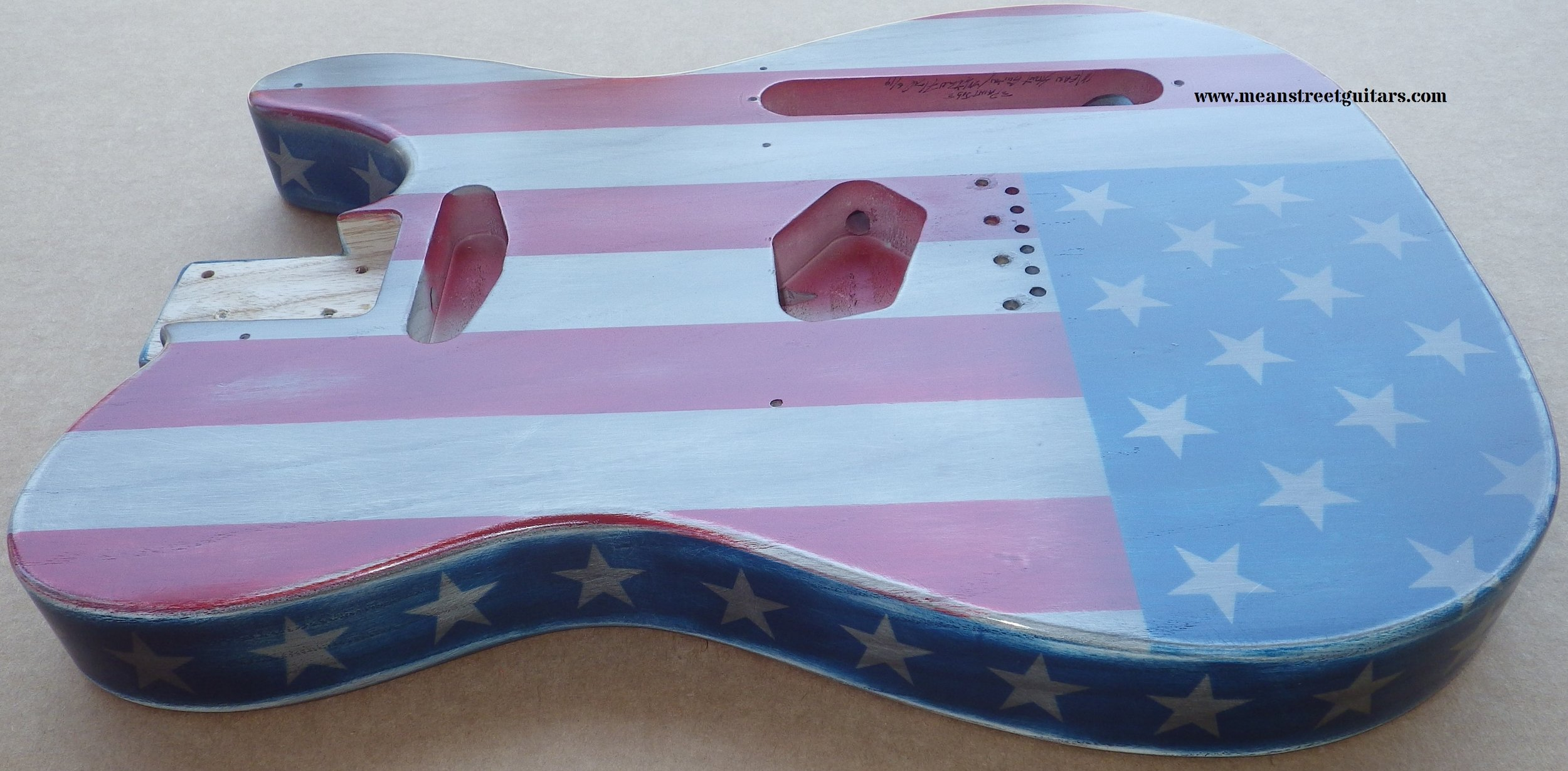 Mean Street American Flag Tele relic paint job Shawne P pic 6.jpg
