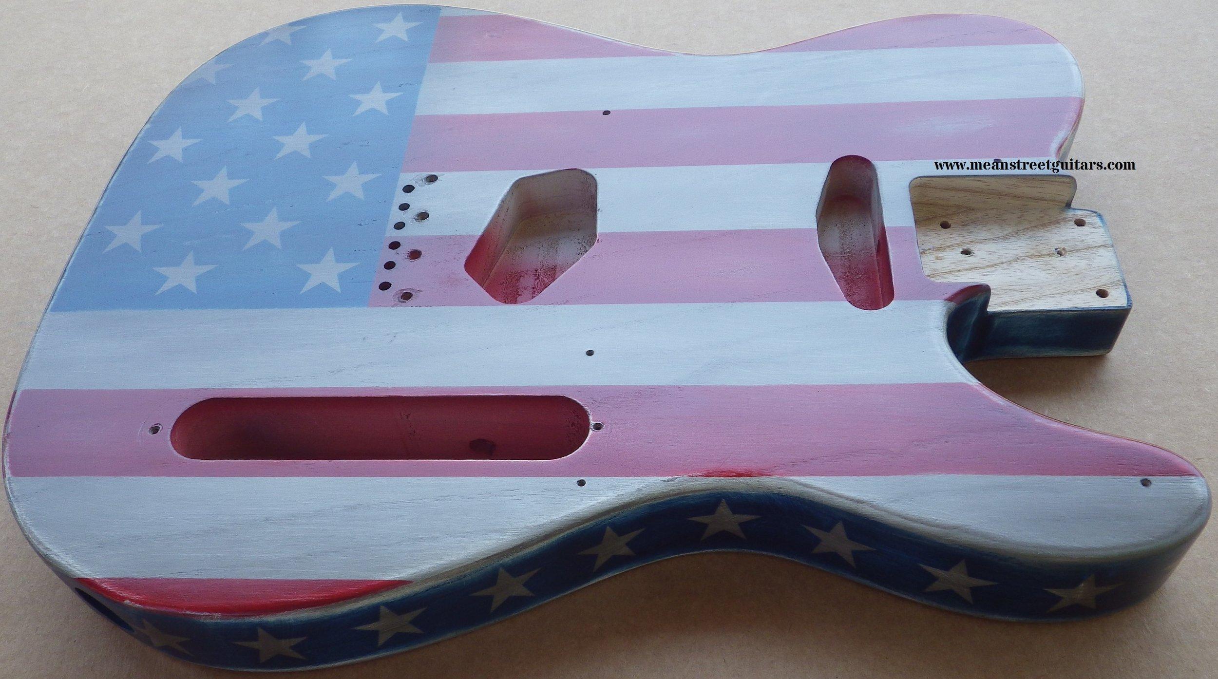 Mean Street American Flag Tele relic paint job Shawne P pic 7.jpg