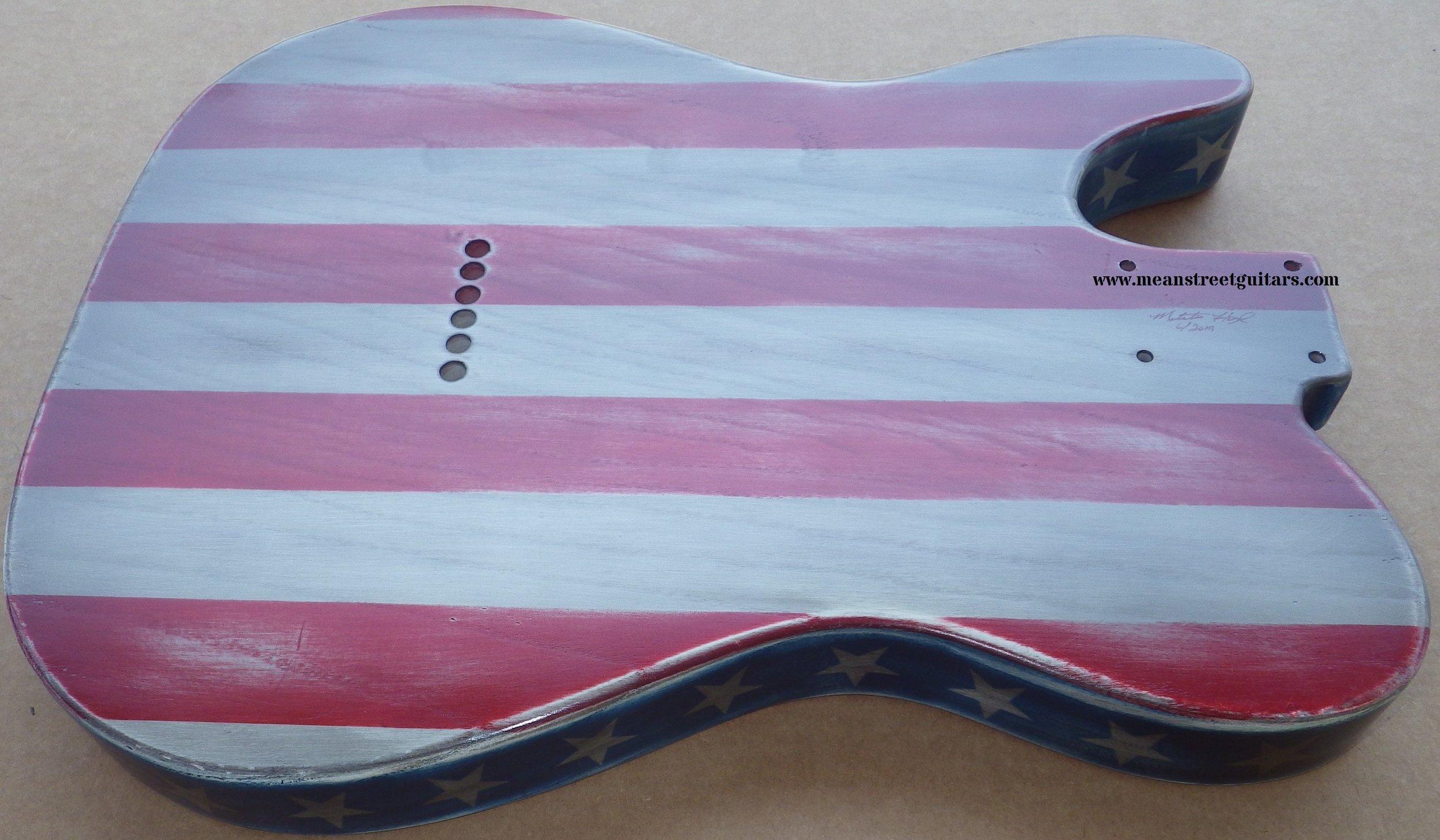 Mean Street American Flag Tele relic paint job Shawne P pic 8.jpg