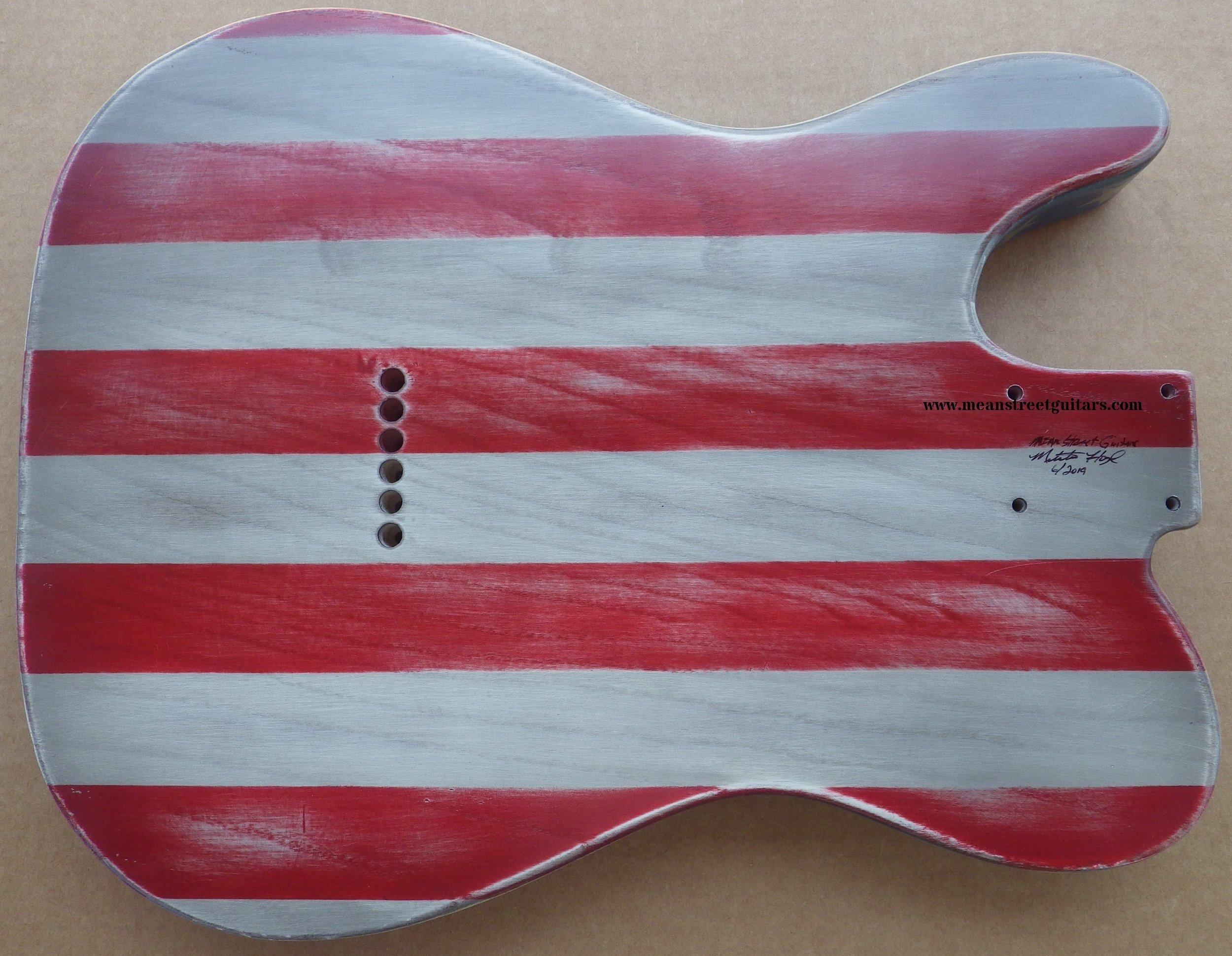 Mean Street American Flag Tele relic paint job Shawne P pic 8a.jpg