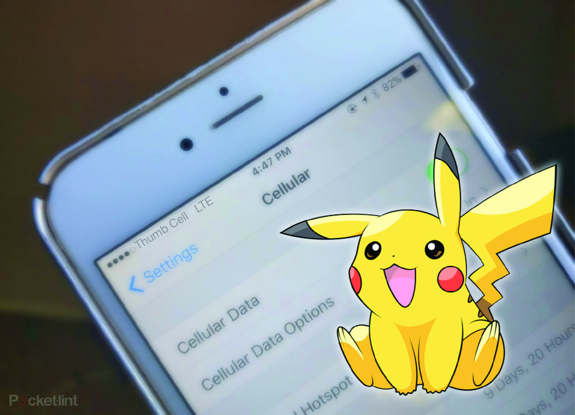 Are you or your kids having fun playing  Pokemon Go ? While you're trying to Catch 'Em All, make sure you're aware of your cellular data usage. Keep in mind that Pokemon Go requires your phone to be constantly checking and transmitting your location via GPS. And because the app also requires you to be outdoors and moving around, you will definitely be using a cellular connection rather than a Wi-Fi connection. To top it all off, the game uses your camera a lot, so your battery will quickly drain too. Here are some tips to keep your data usage under control:    • Download all app updates and in-app purchases over Wi-Fi.    • Only play in areas where public Wi-Fi is available.    • Set a mobile data limit for yourself. On Android, go to Settings > Wireless & Networks > Data Usage > Data Usage Date Cycle > And select a date range. On iPhone, you can disable the app from using cellular data altogether by going to Settings > Cellular > Cellular Data Usage.    • Avoid downloading/streaming videos, music, and media while playing.    • Close out of other open apps that may be using up data.    • Restrict background app data. On Android, go to Settings > Application or Apps > Pokemon Go > Data Usage > Restrict Background Data. On iPhone, you can stop apps from refreshing in the background by going to Settings > General > Background App Refresh> Pokemon Go.    • Disable notifications under your phone's Settings app. Email and push notifications from various apps also eat into data.    • And finally, we know it's hard, but pace yourself. Moderation is key. ;-)