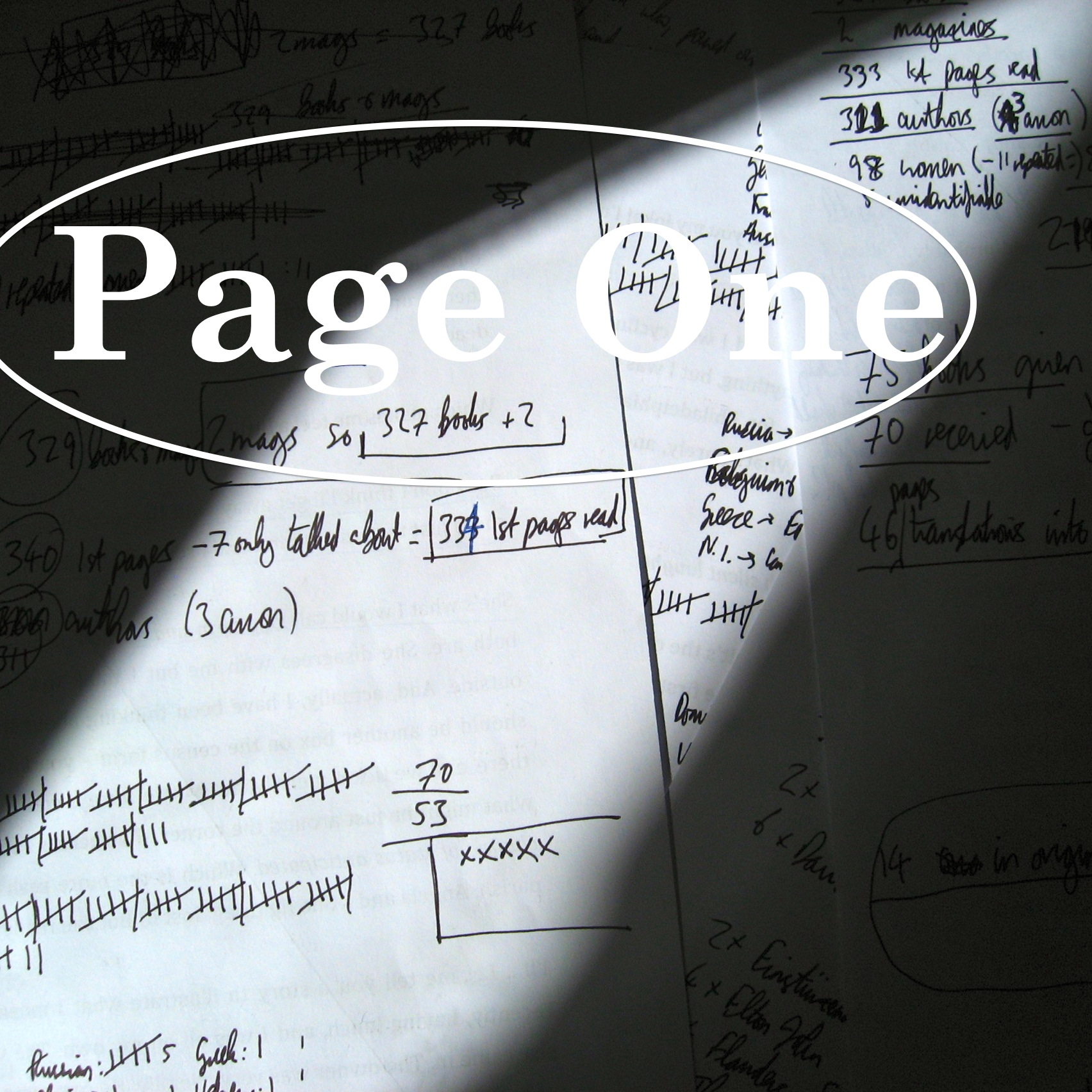 Episode image is a detail of some of the notes made in preparation for this episode; photo by Charles Adrian.