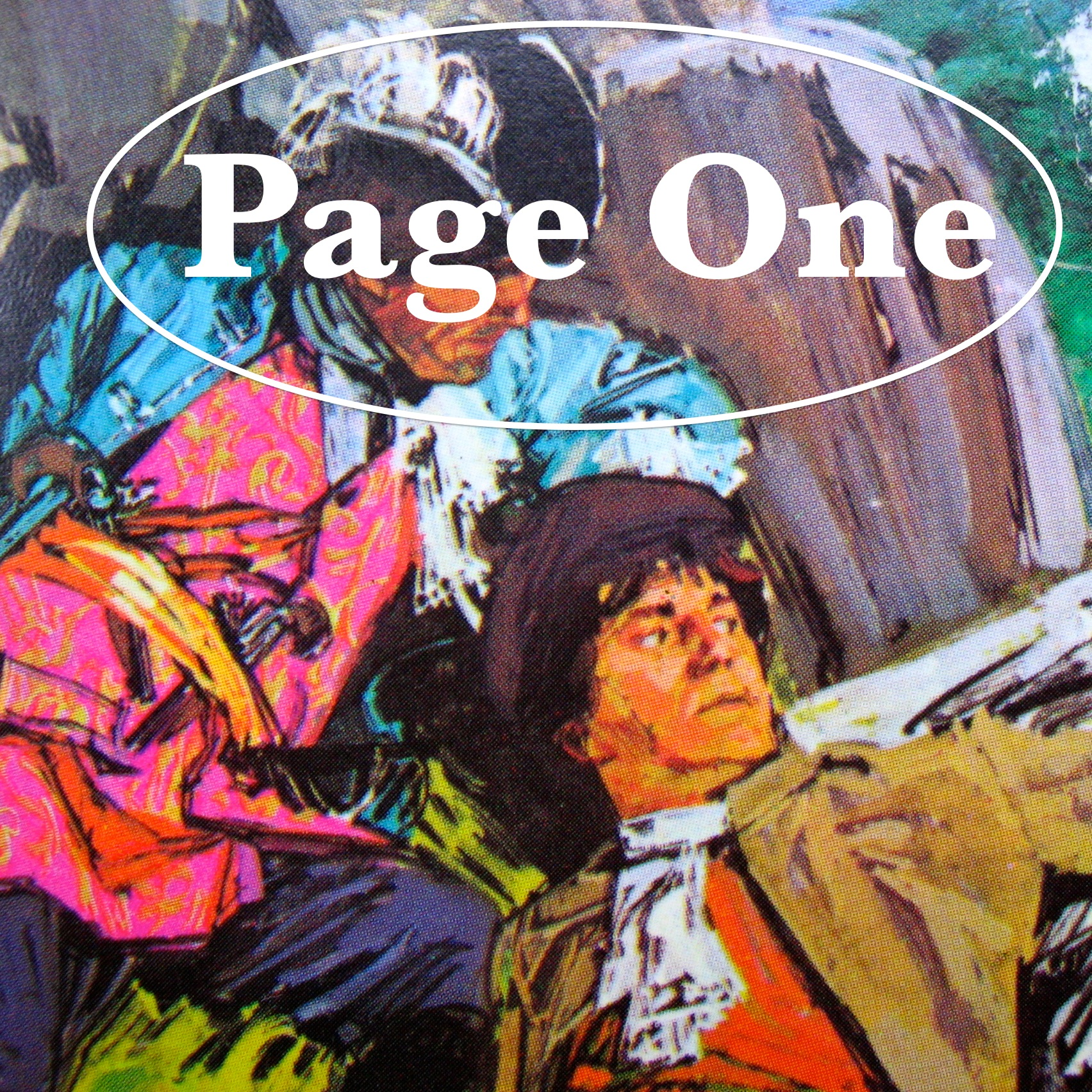 Episode image is a detail from the cover of Kidnapped by Robert Louis Stevenson, published in 1968 by Pan Books; the cover painting by John Raynes, ARCA, MSIA, shows the fugitives David Balfour and Alan Breck hiding from the redcoats in the valley of Glencoe after the murder of the 'Red Fox'.