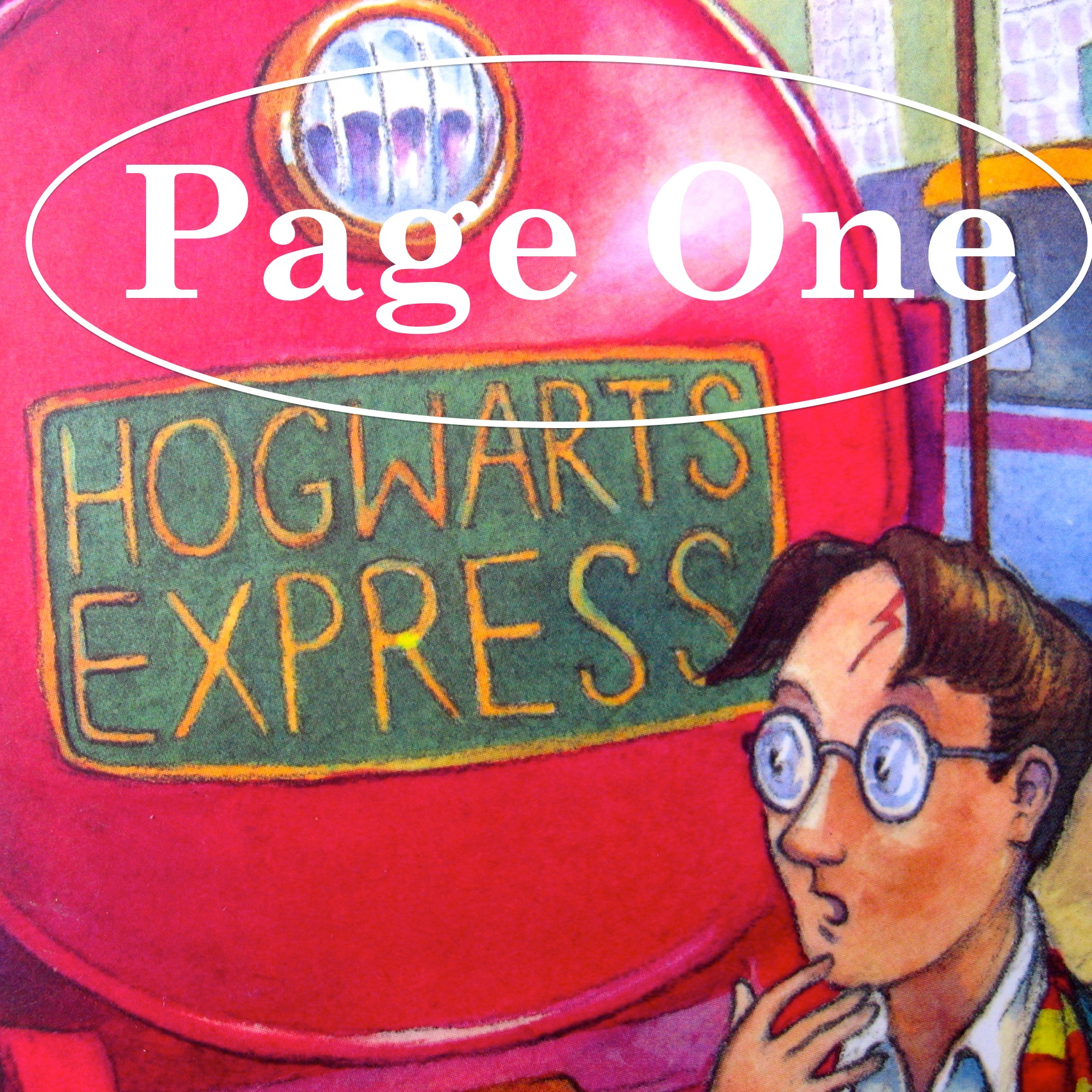 Episode image is a detail from the cover of  Harry Potter And The Philosopher's Stone  by J.K. Rowling, published in 1997 by Bloomsbury Publishing; cover illustration © Thomas Taylor.