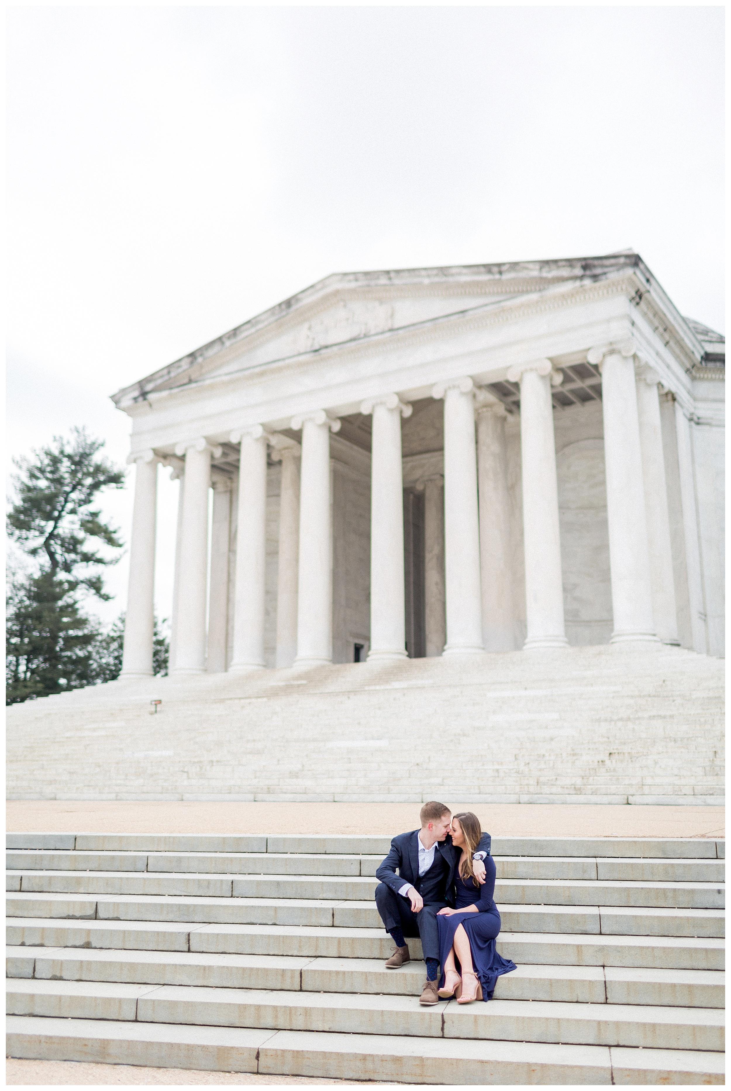 Washingon DC Engagement Photos | Jefferson Memorial Engagement | Kir Tuben_0003.jpg