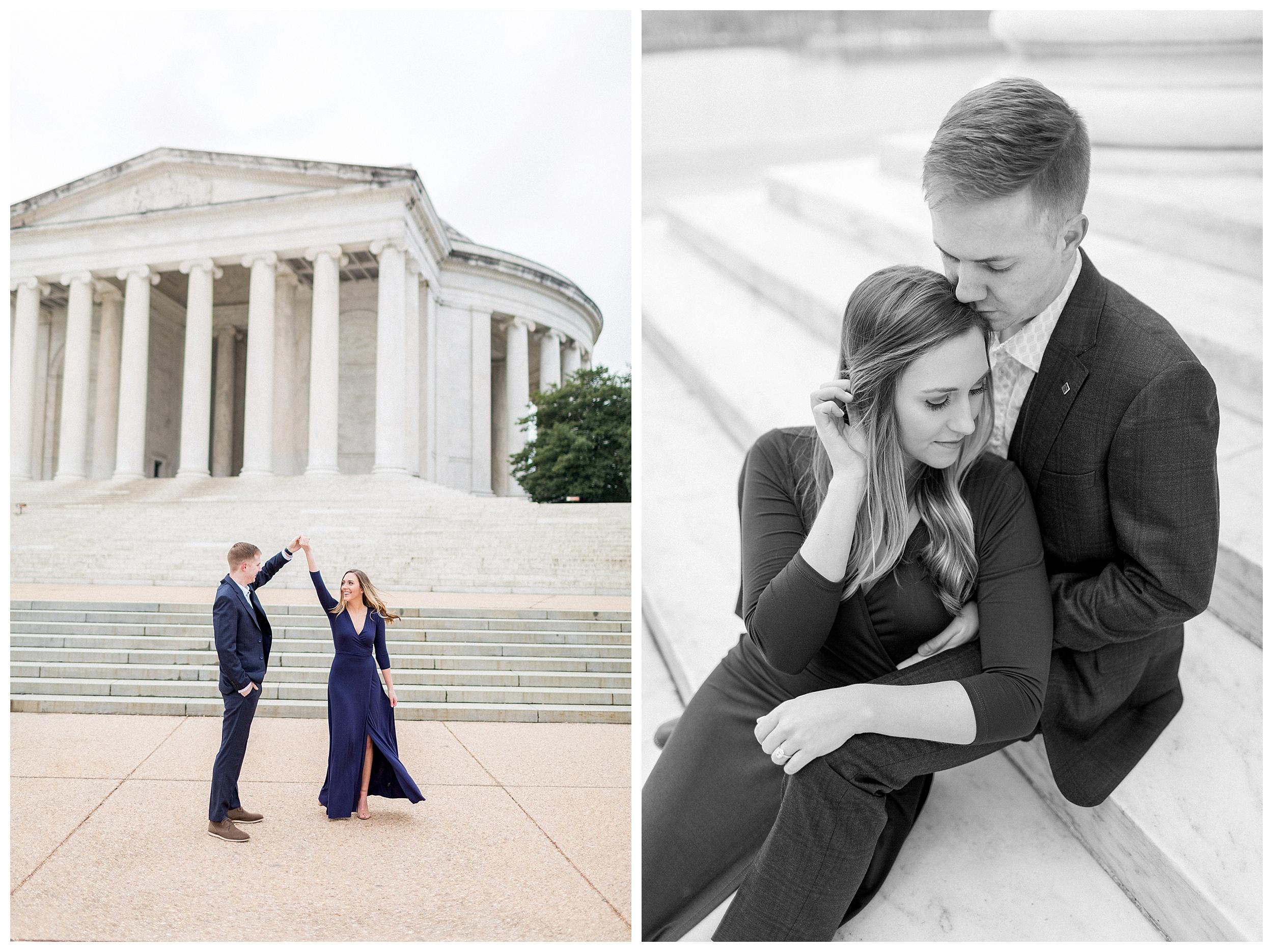 Washingon DC Engagement Photos | Jefferson Memorial Engagement | Kir Tuben_0006.jpg