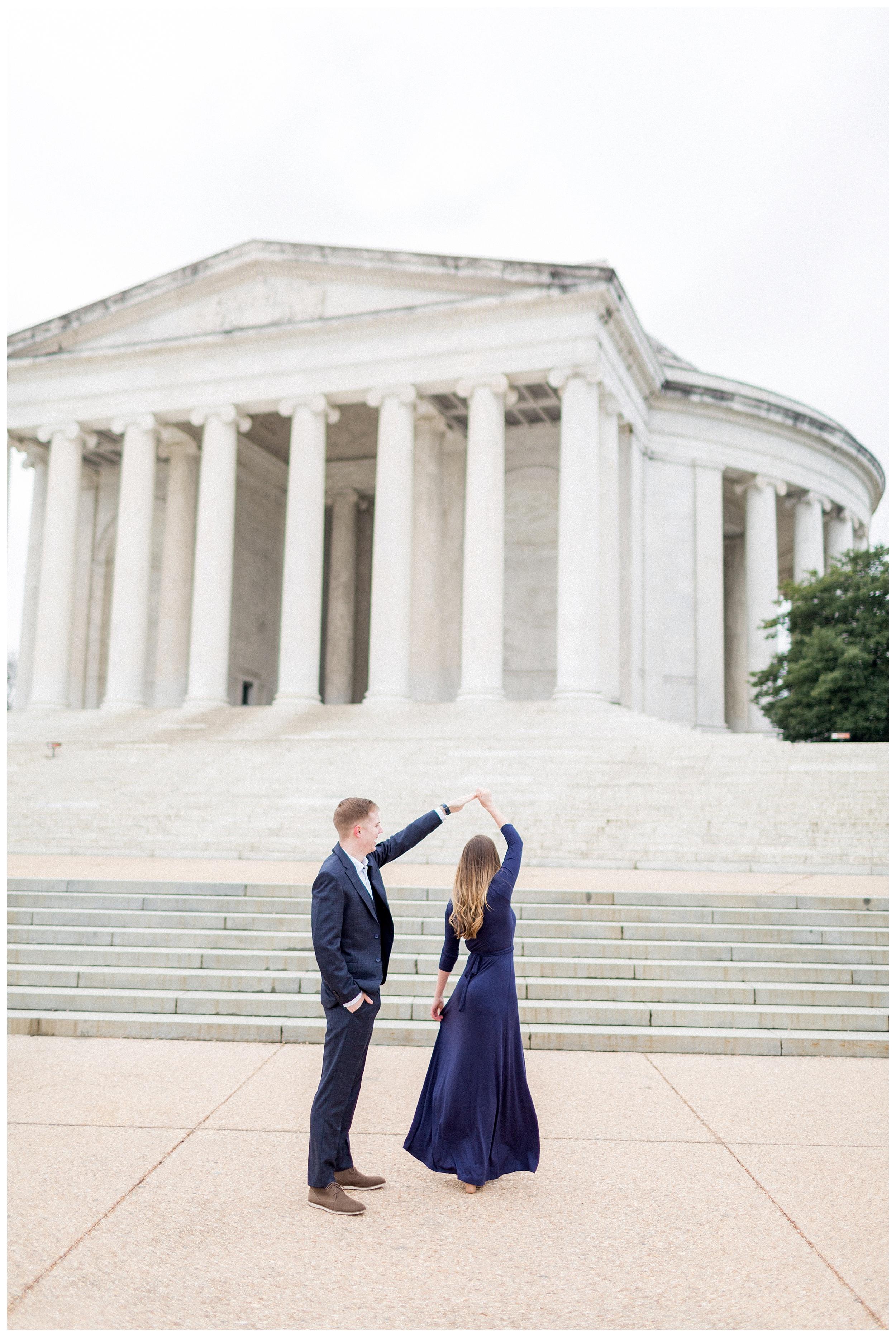Washingon DC Engagement Photos | Jefferson Memorial Engagement | Kir Tuben_0010.jpg