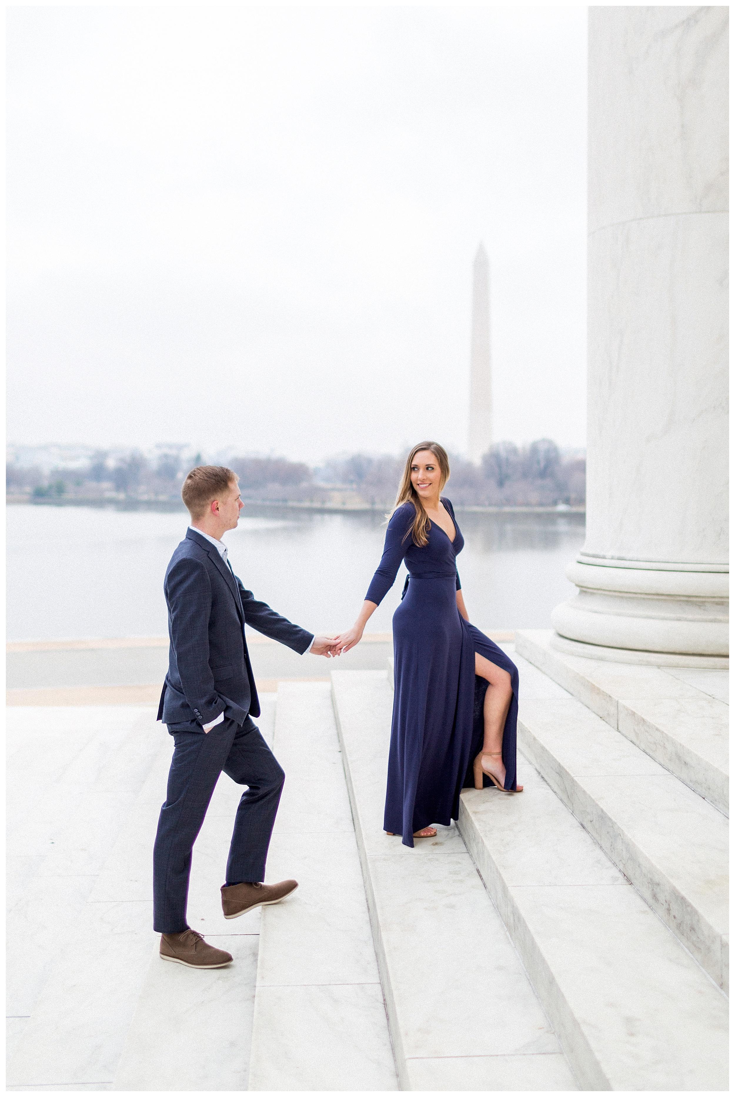 Washingon DC Engagement Photos | Jefferson Memorial Engagement | Kir Tuben_0012.jpg