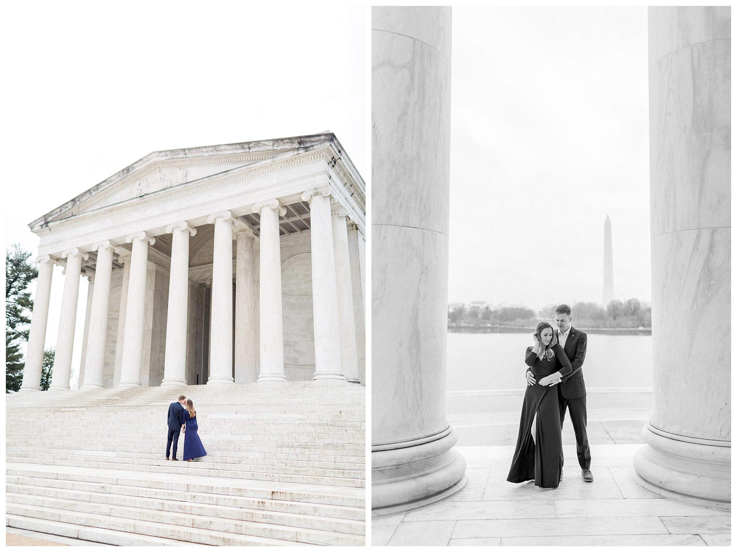 Washingon DC Engagement Photos | Jefferson Memorial Engagement | Kir Tuben_0016.jpg