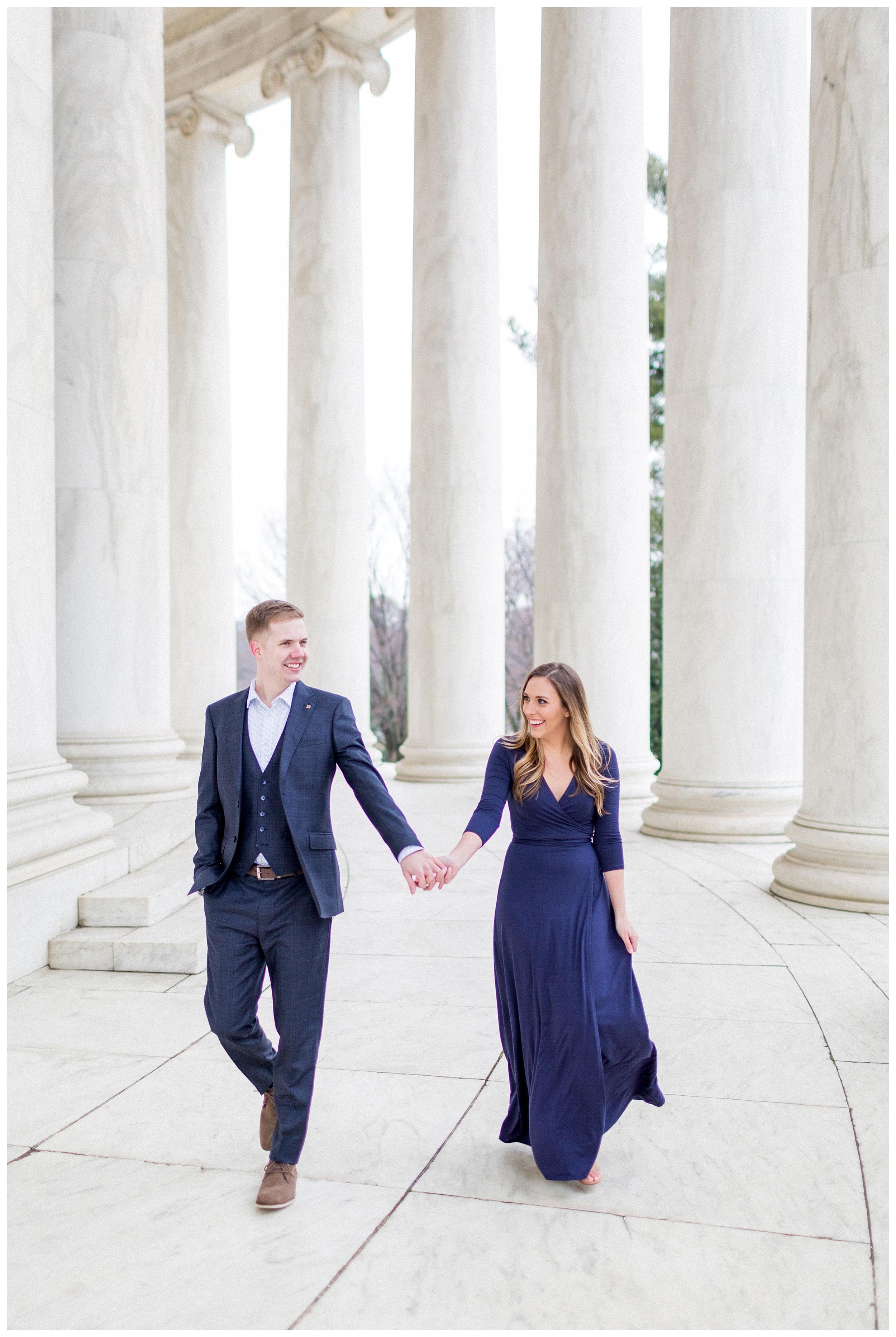 Washingon DC Engagement Photos | Jefferson Memorial Engagement | Kir Tuben_0021.jpg