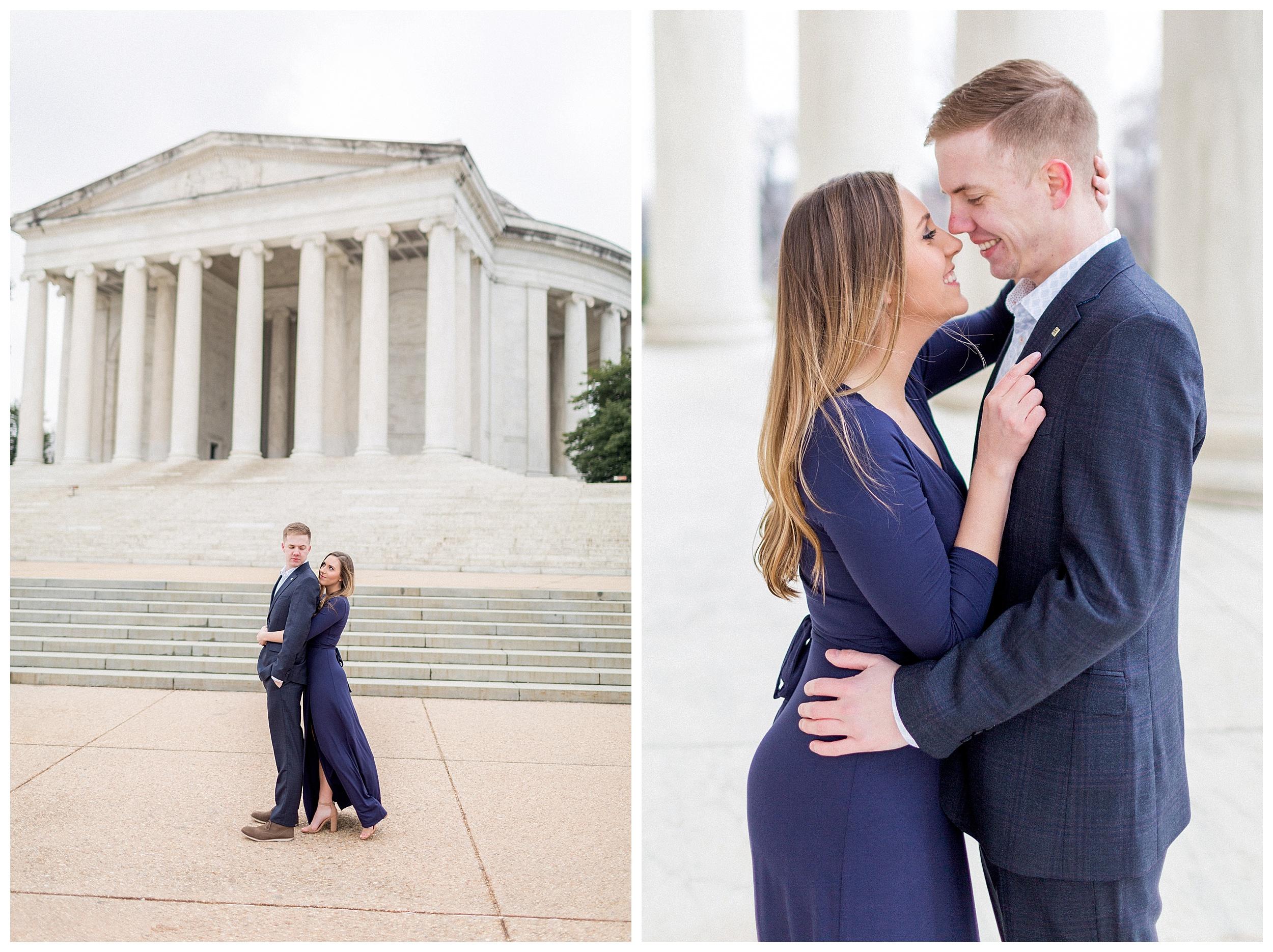 Washingon DC Engagement Photos | Jefferson Memorial Engagement | Kir Tuben_0022.jpg