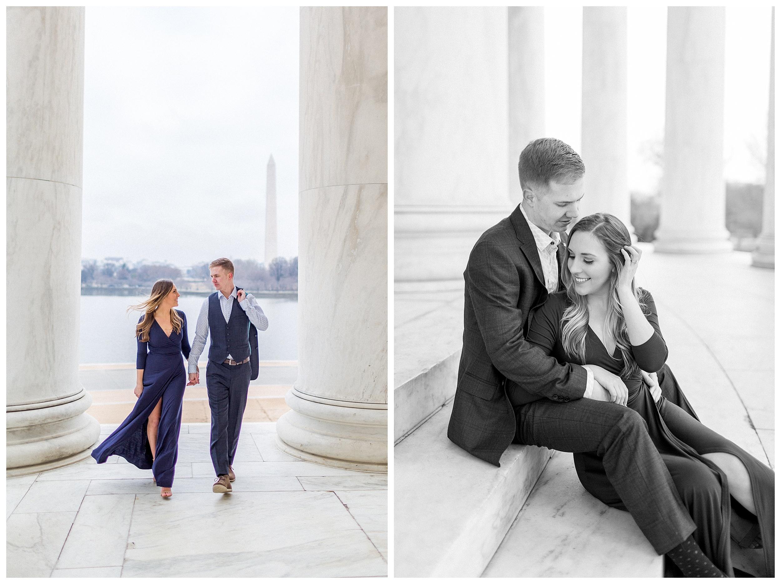Washingon DC Engagement Photos | Jefferson Memorial Engagement | Kir Tuben_0024.jpg