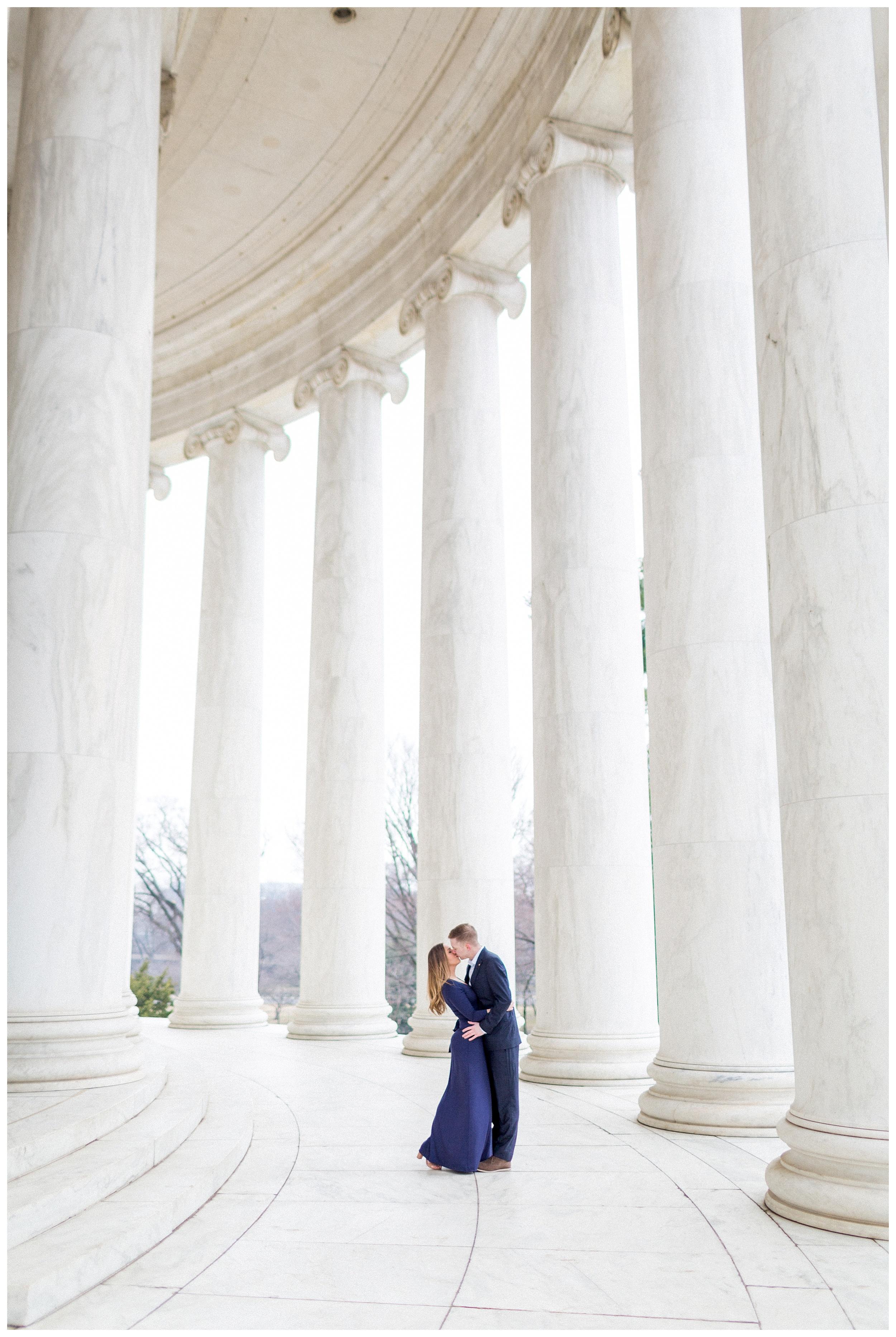 Washingon DC Engagement Photos | Jefferson Memorial Engagement | Kir Tuben_0023.jpg