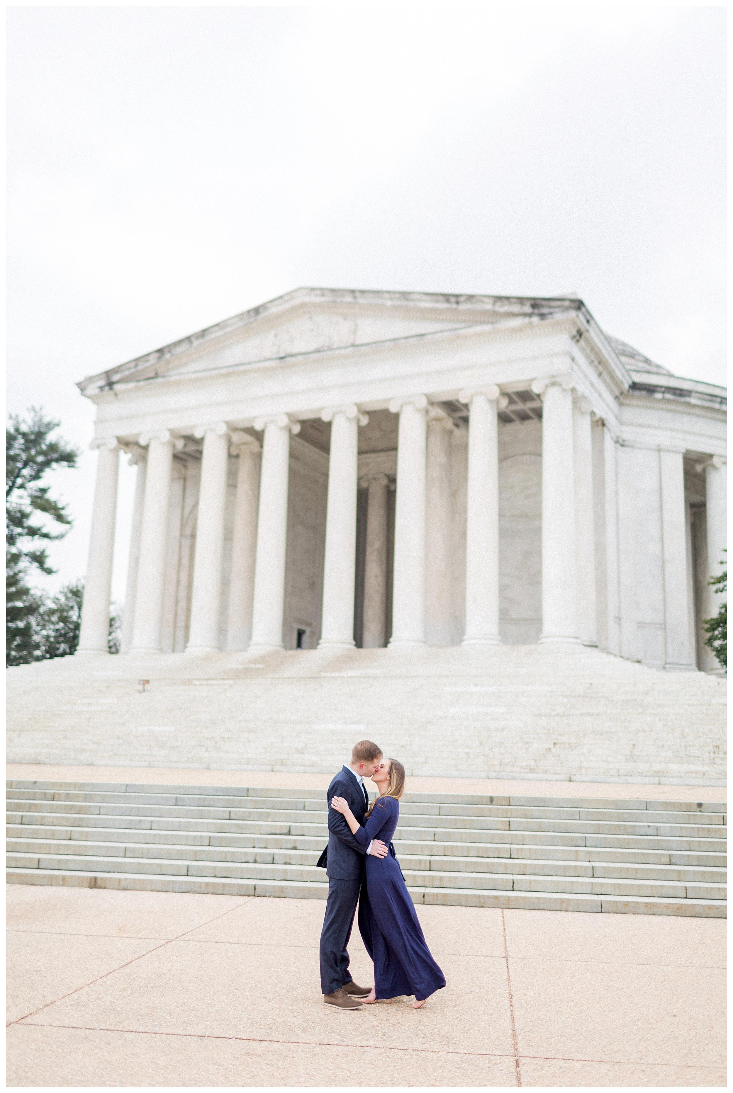 Washingon DC Engagement Photos | Jefferson Memorial Engagement | Kir Tuben_0025.jpg