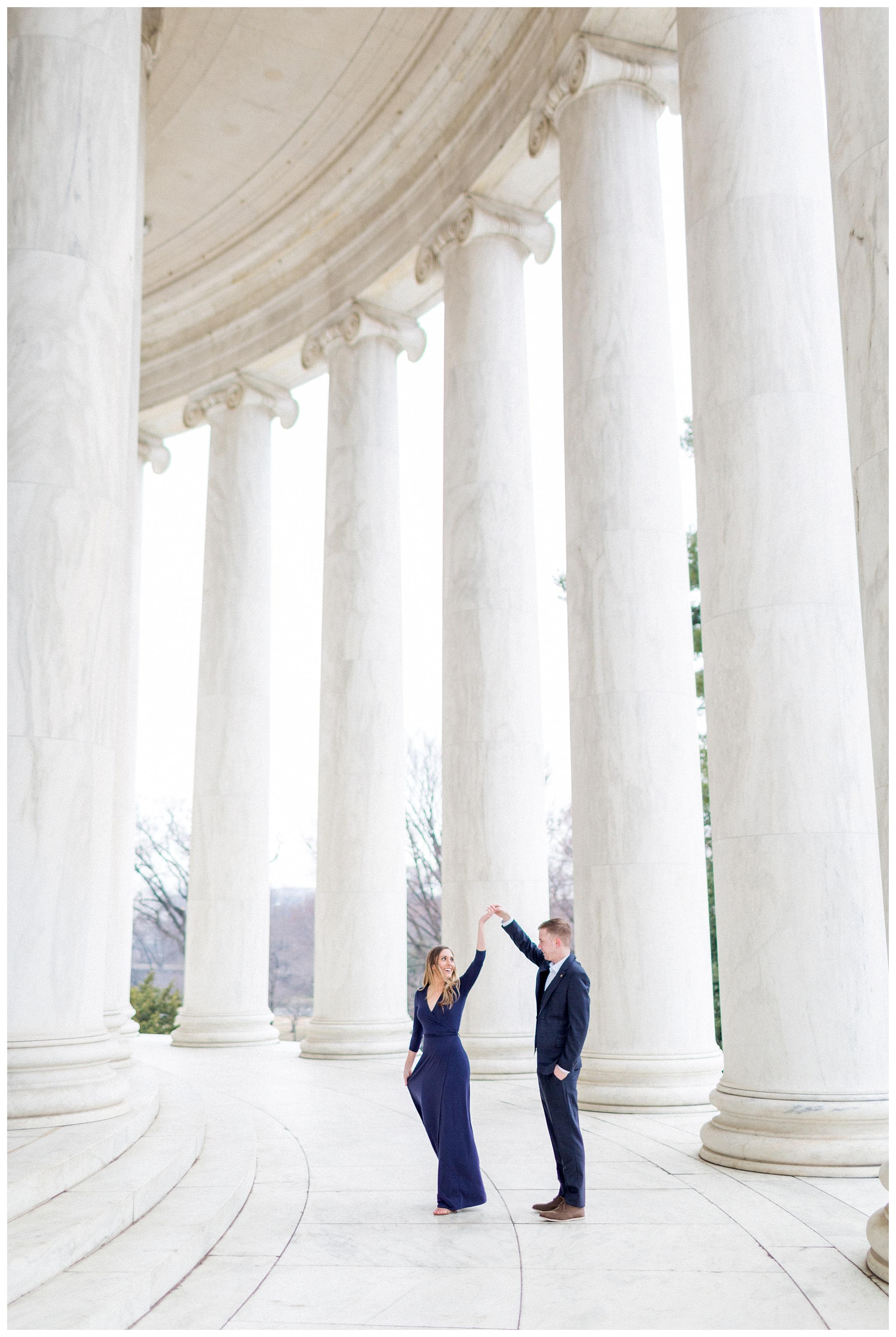 Washingon DC Engagement Photos | Jefferson Memorial Engagement | Kir Tuben_0028.jpg