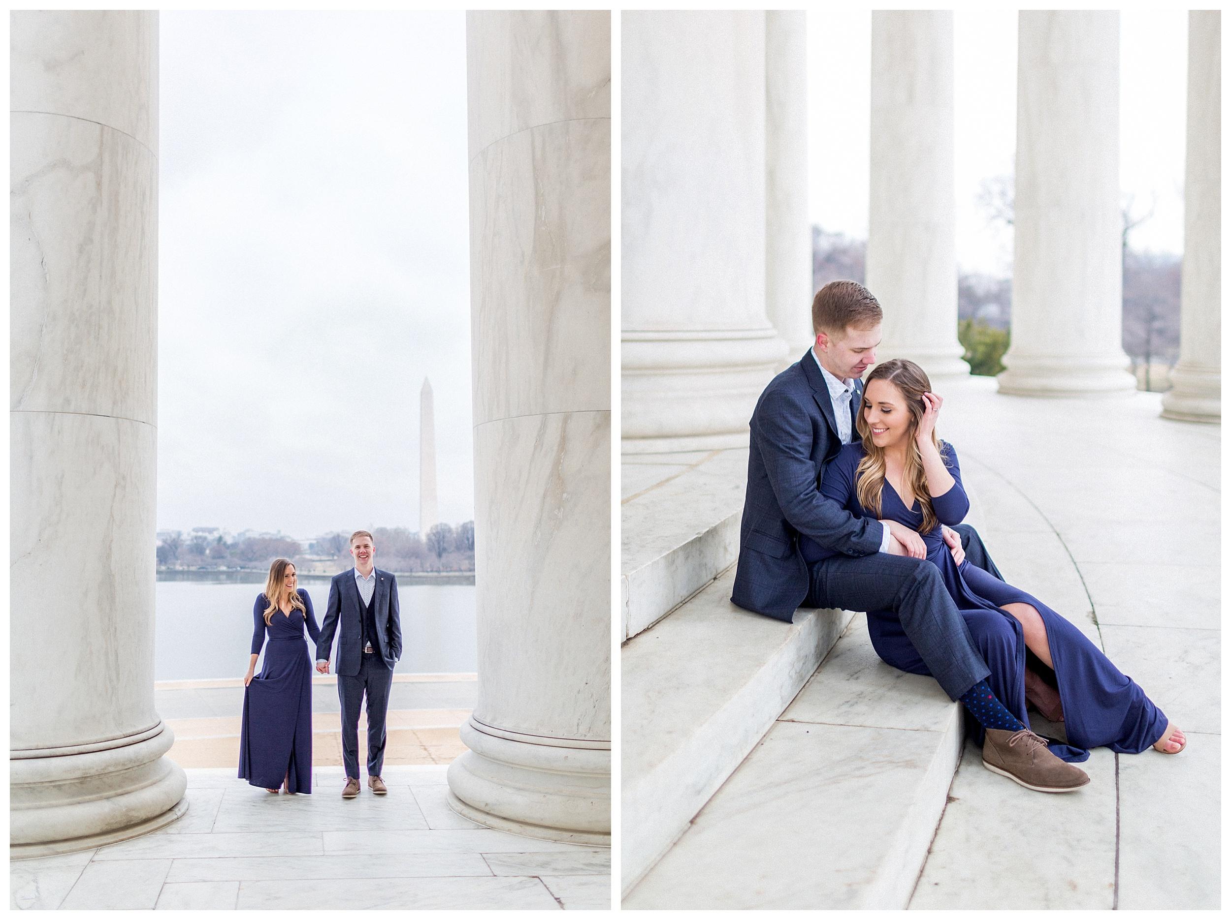 Washingon DC Engagement Photos | Jefferson Memorial Engagement | Kir Tuben_0035.jpg