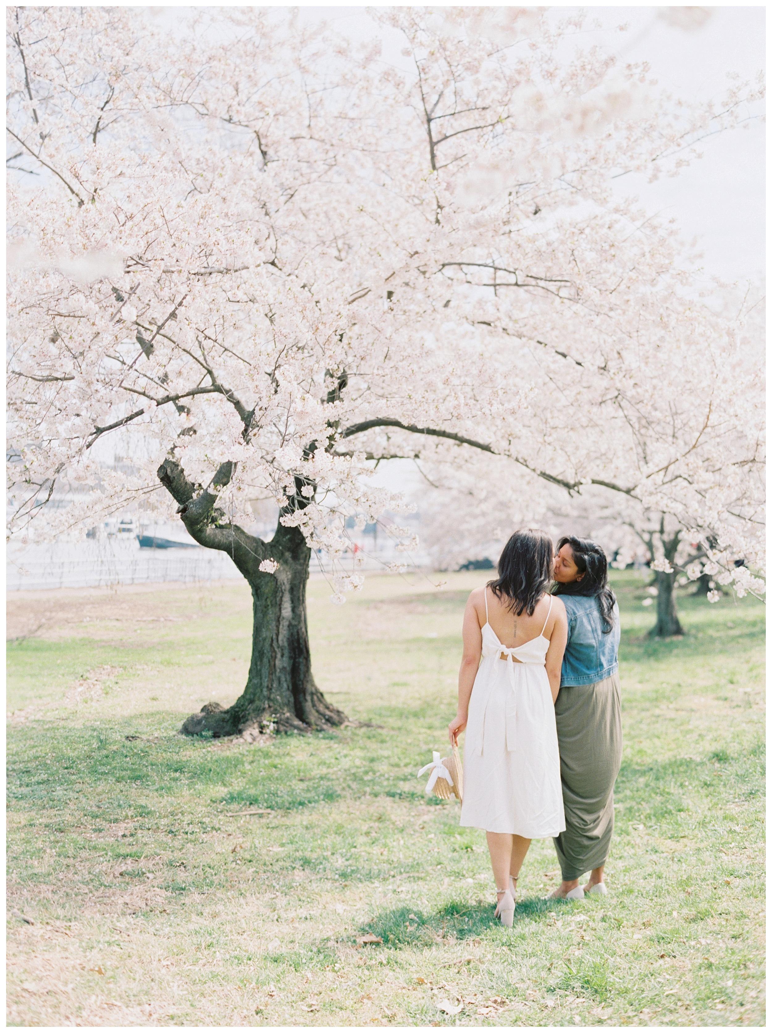 Same Sex DC Engagement | District of Columbia Cherry Blossom Engagement Kir Tuben_0003.jpg