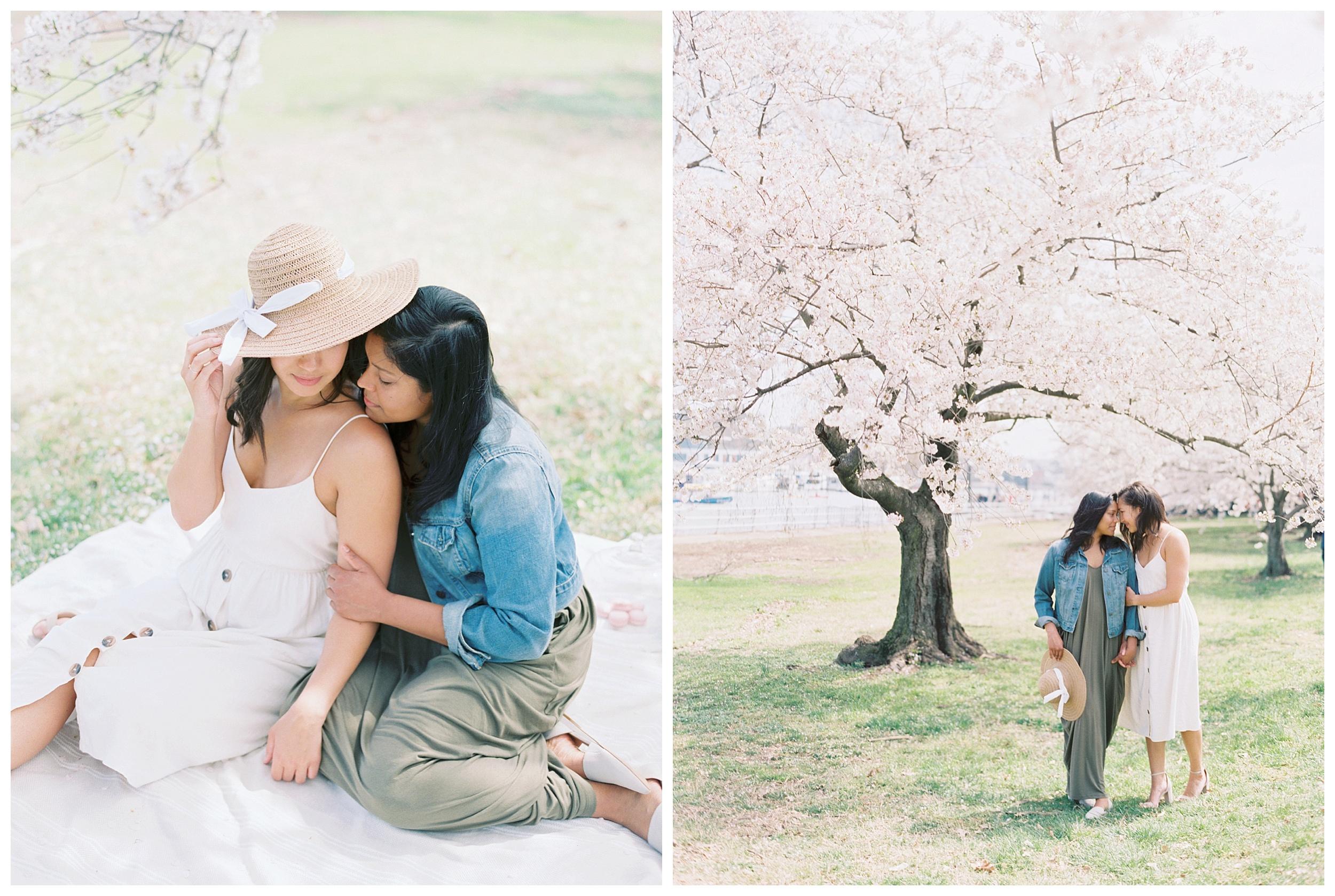 Same Sex DC Engagement | District of Columbia Cherry Blossom Engagement Kir Tuben_0011.jpg