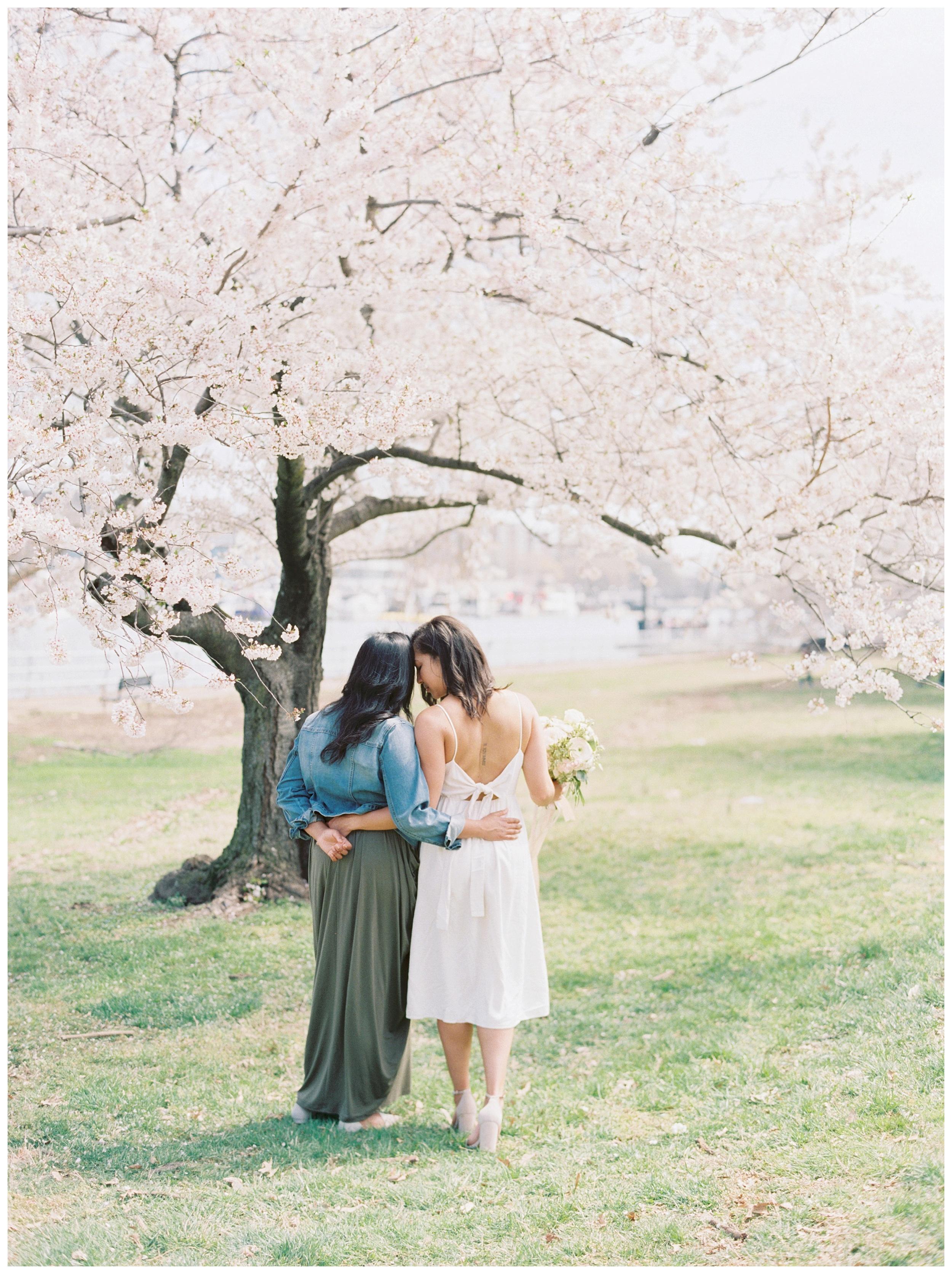 Same Sex DC Engagement | District of Columbia Cherry Blossom Engagement Kir Tuben_0010.jpg